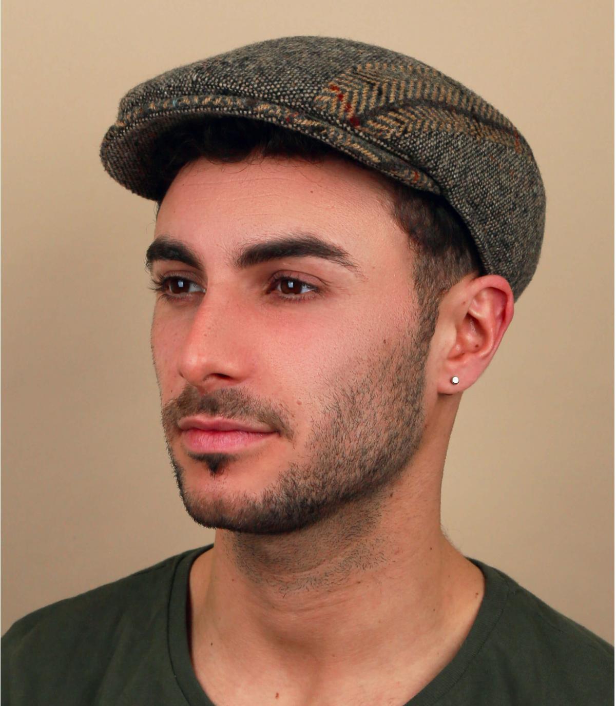 beige mergelwol baret