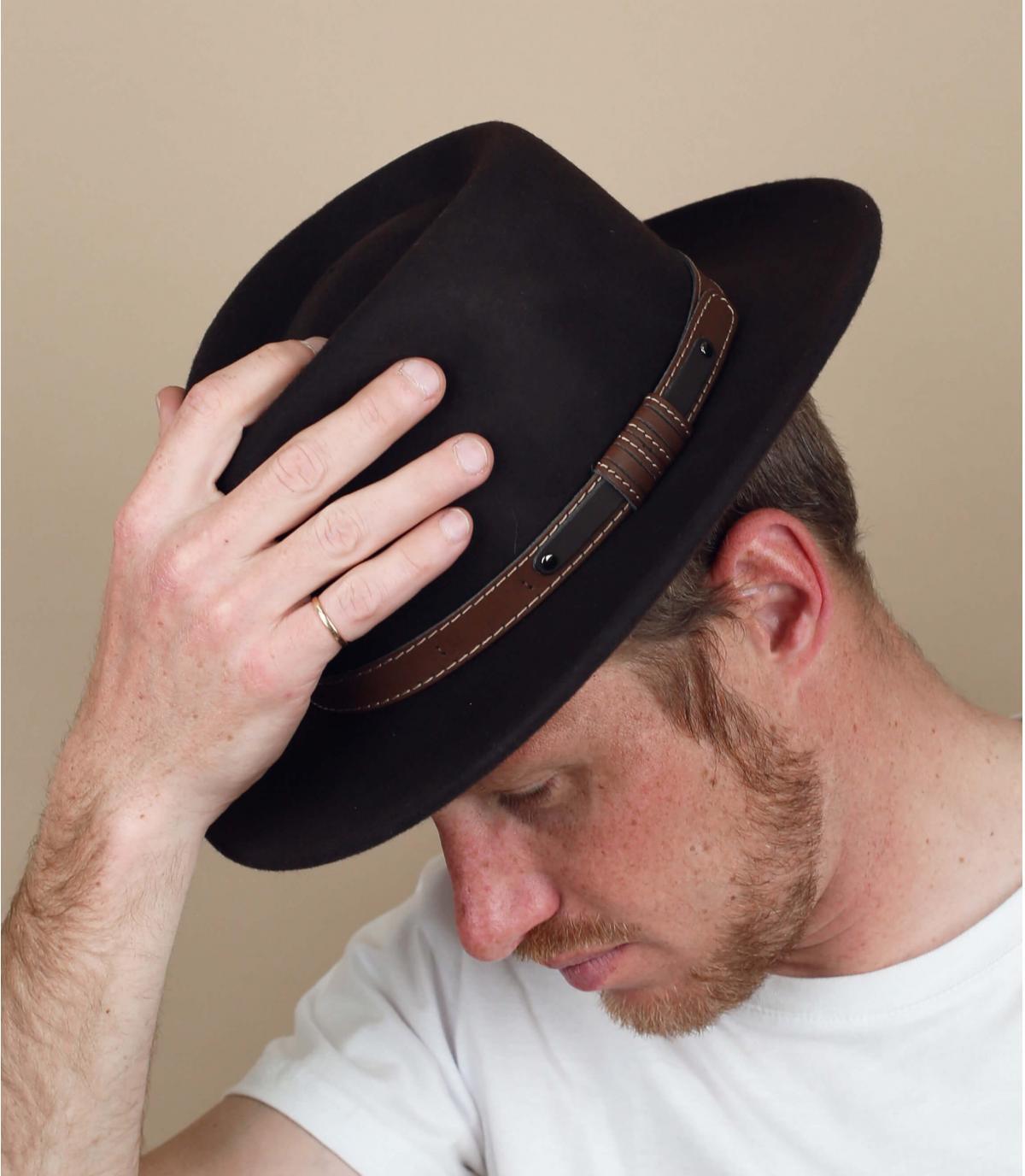 bruine vilten hoed