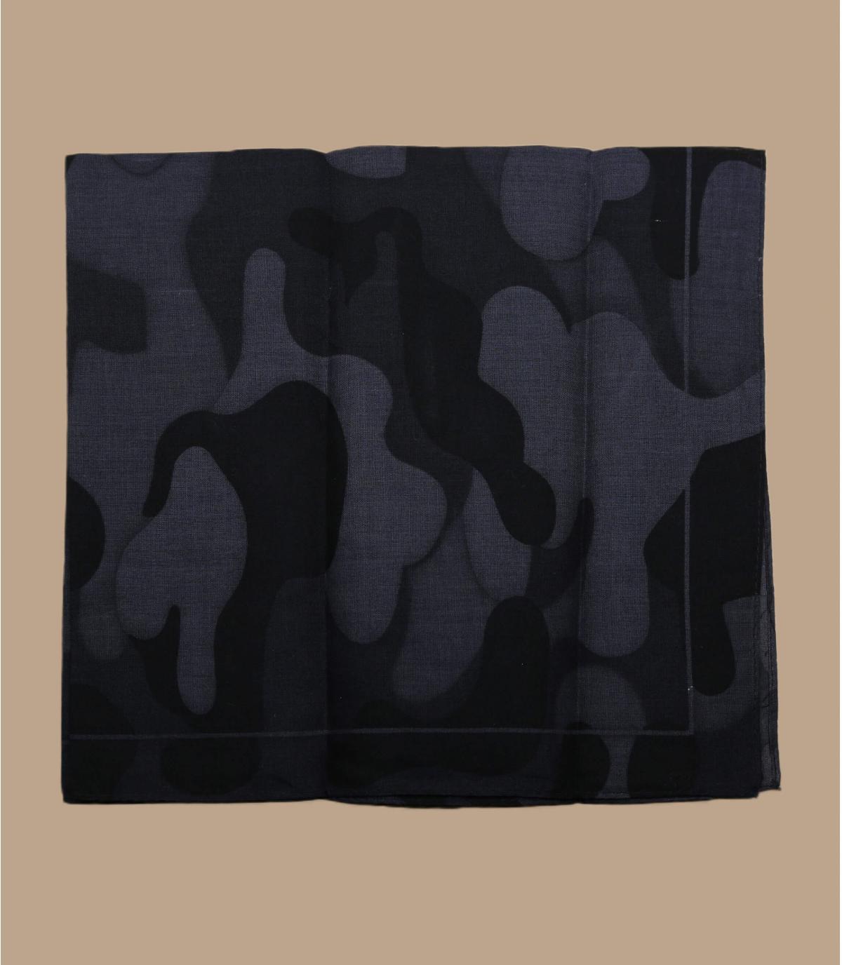 Zwarte camo bandana