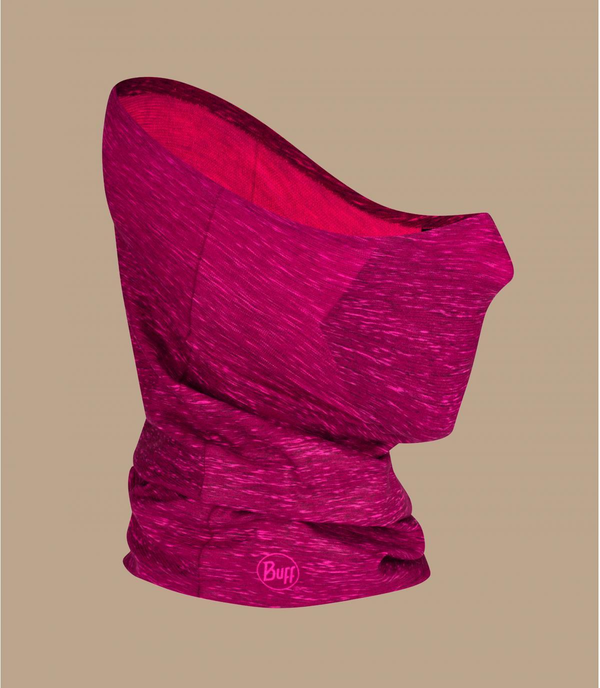 roze Covid masker nekwarmer