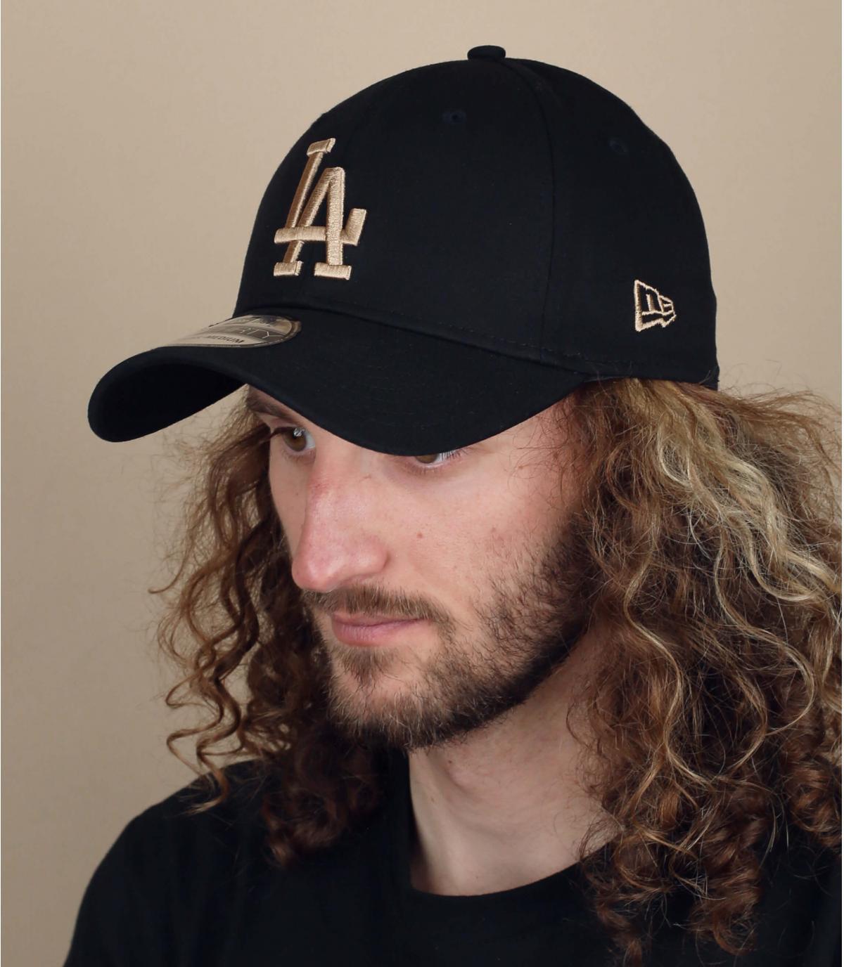 zwart beige LA cap