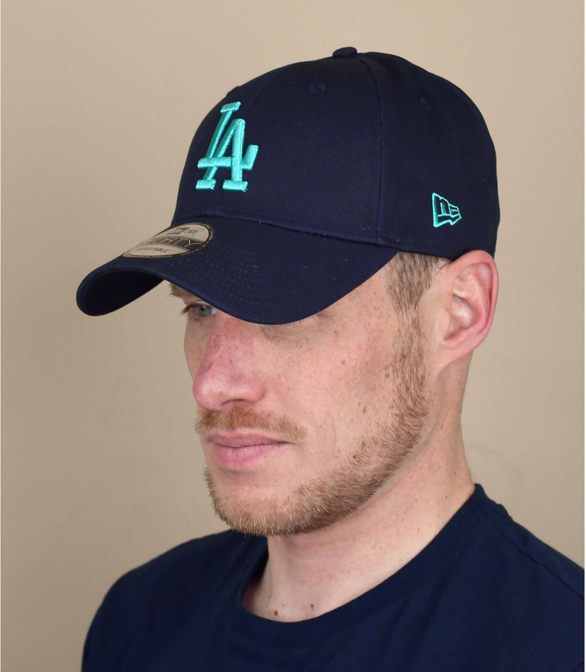 blauwe LA cap