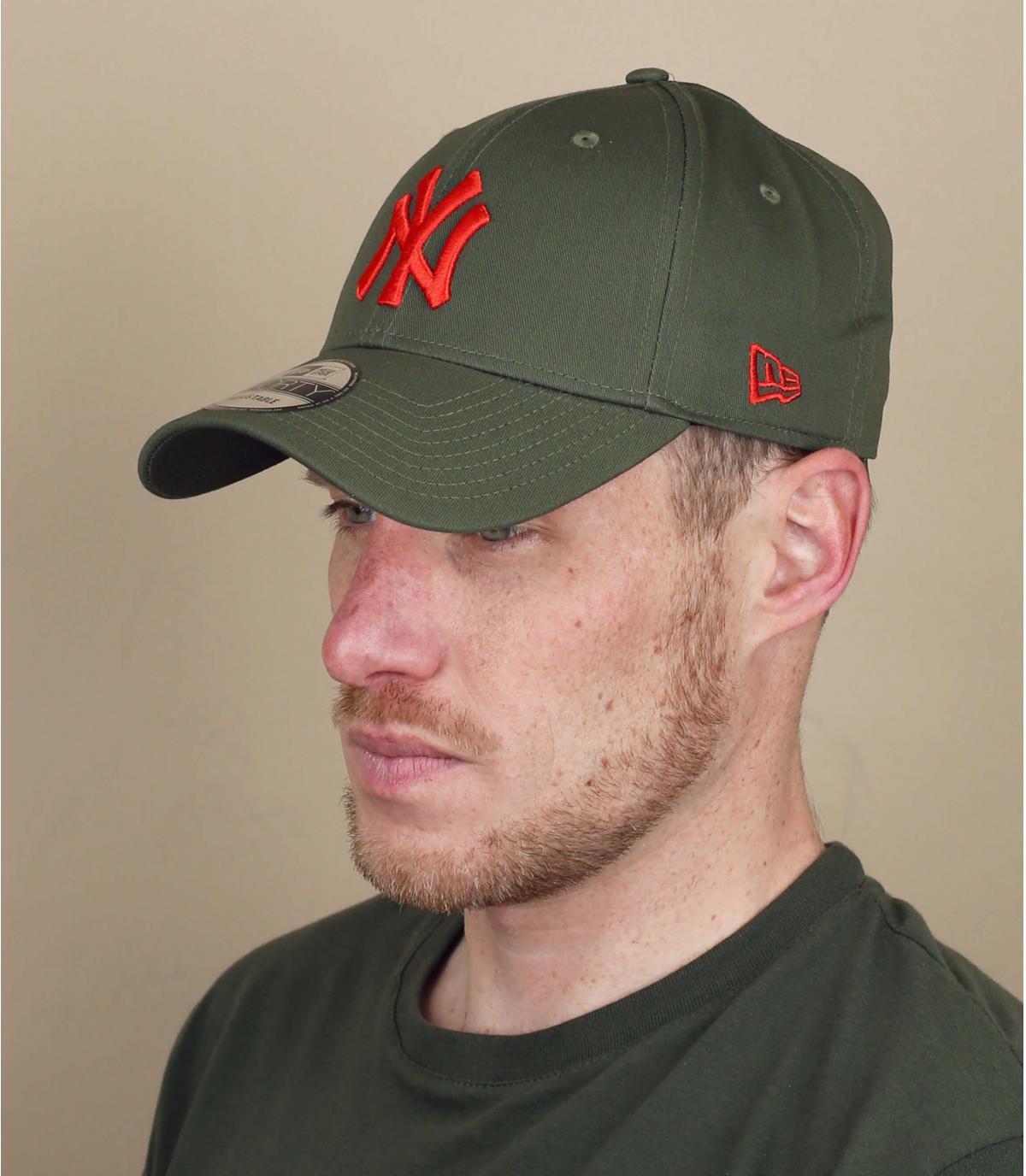 NY cap groen rood