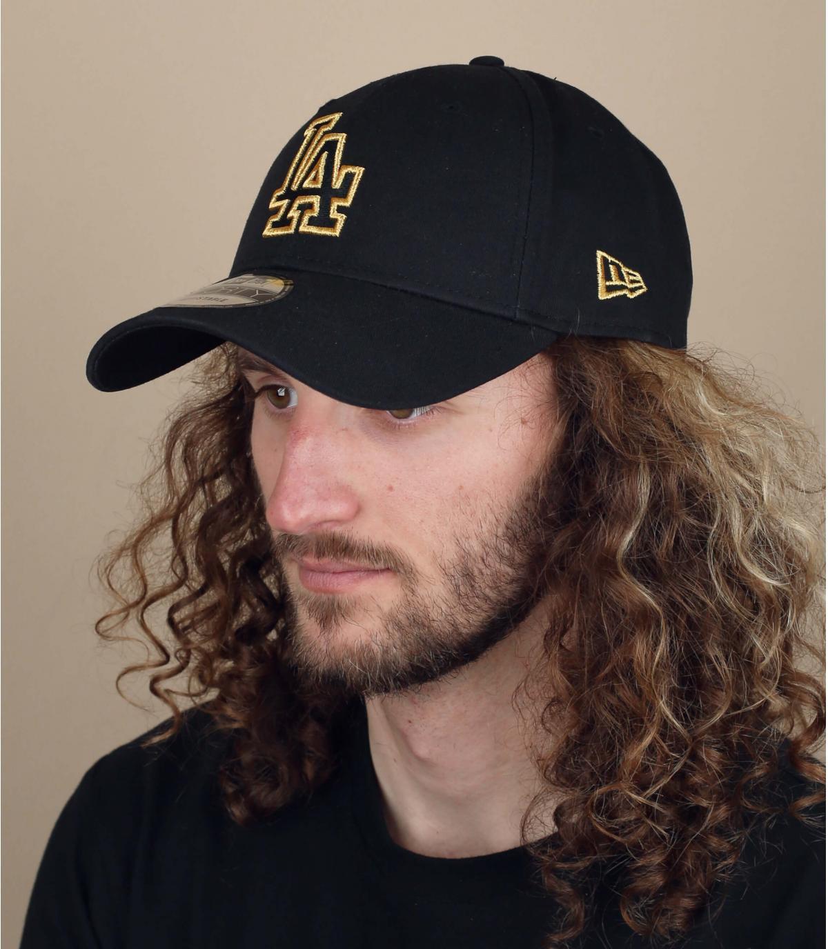 zwart gouden LA cap