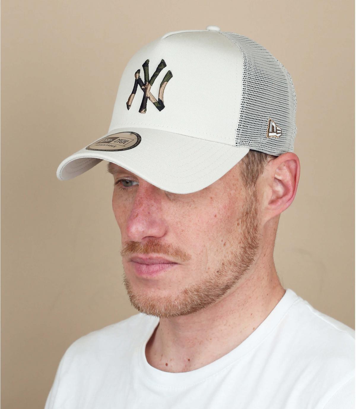 trucker NY beige camo