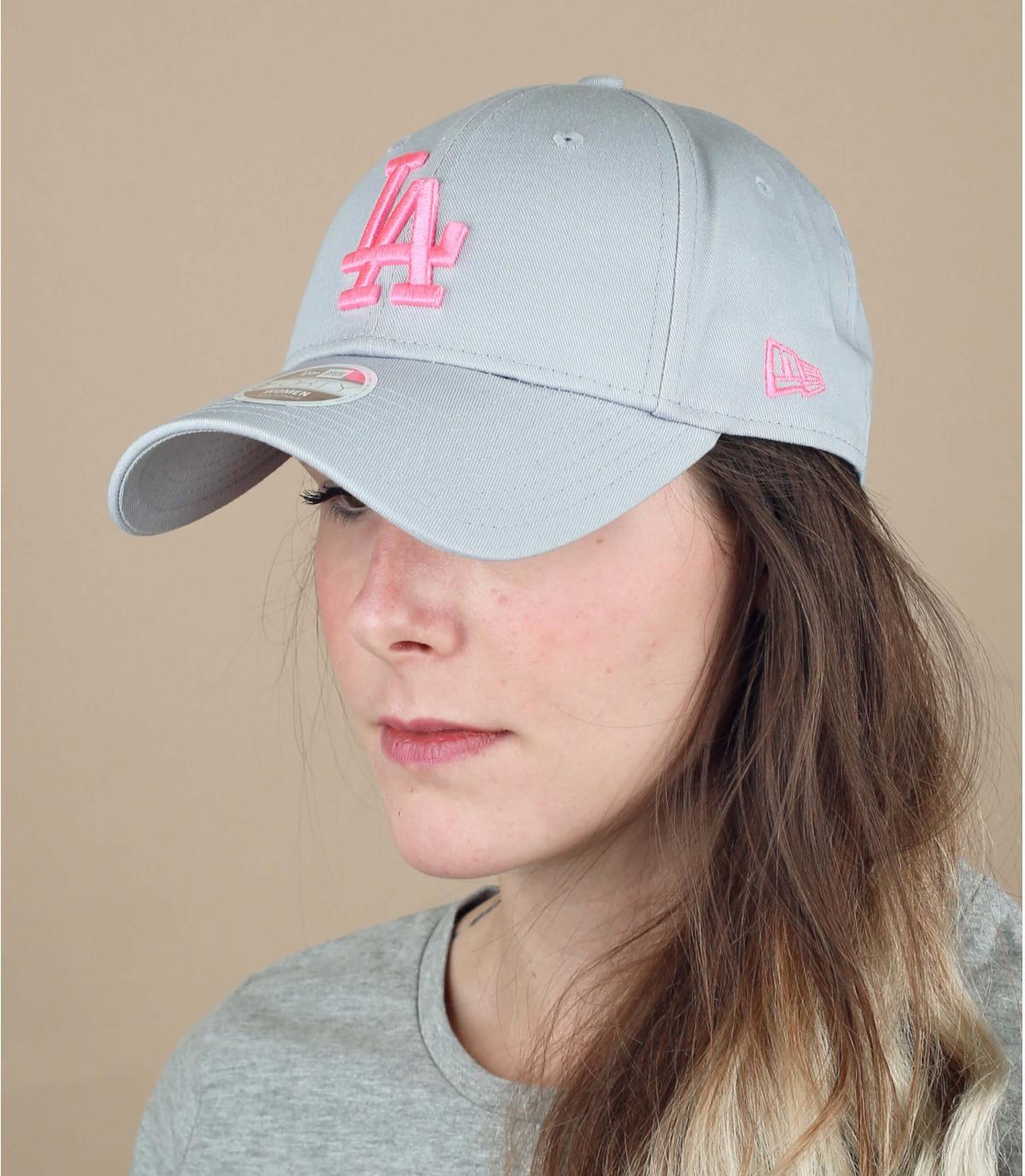 grijs roze damespet LA