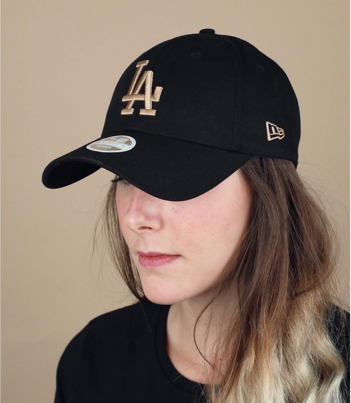 zwarte LA pet vrouw