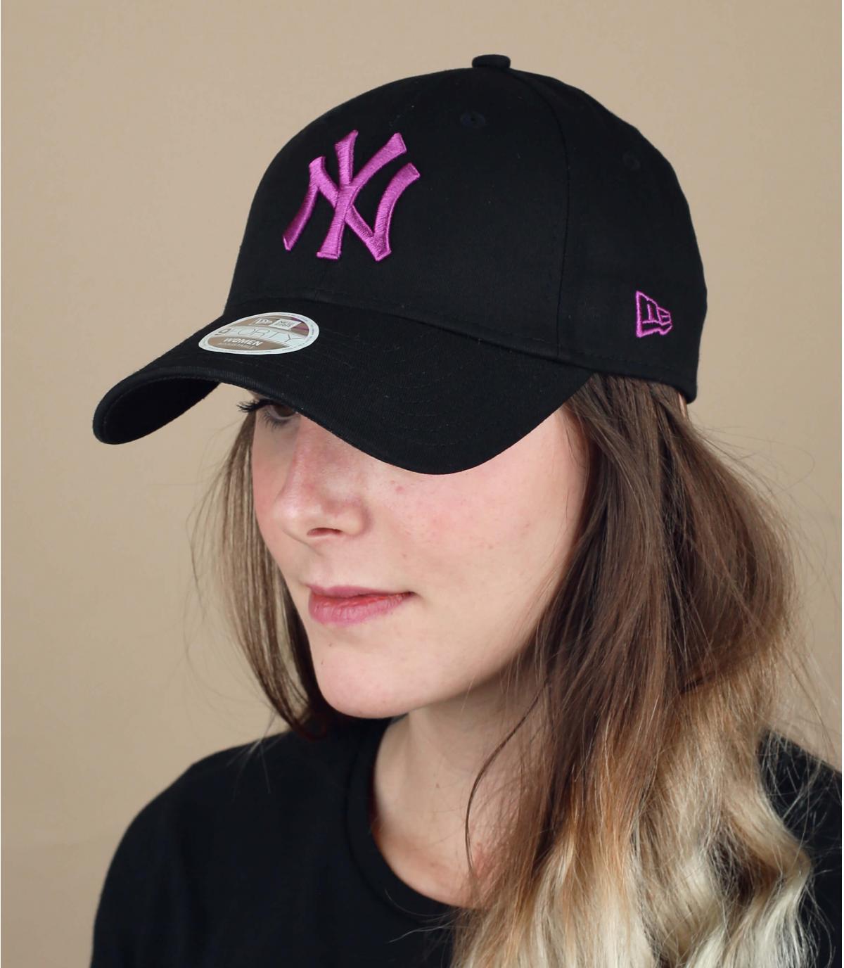 NY cap vrouw zwart