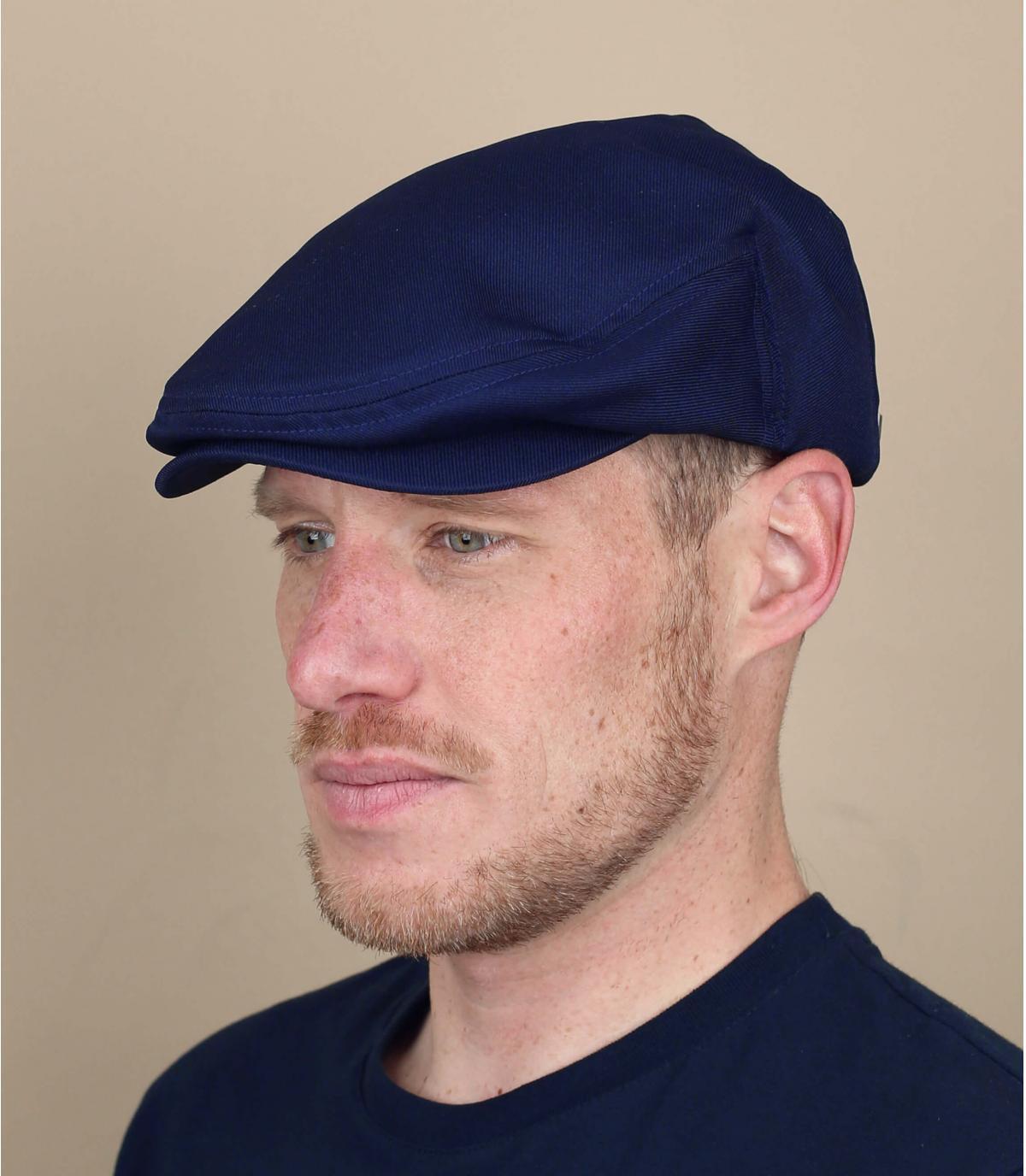 marineblauwe Brixton baret