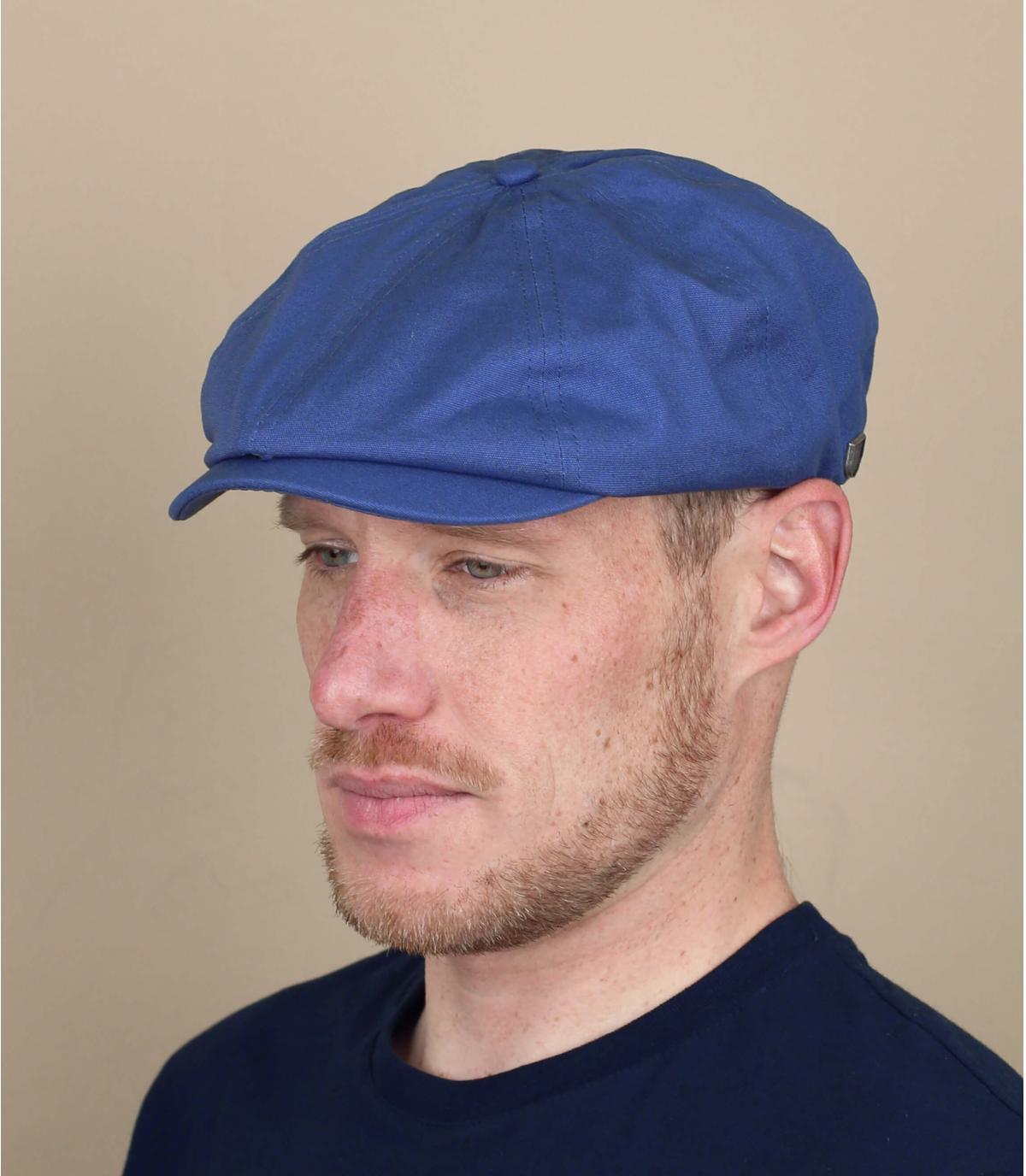 blauw Brixton krantenverkopers baret