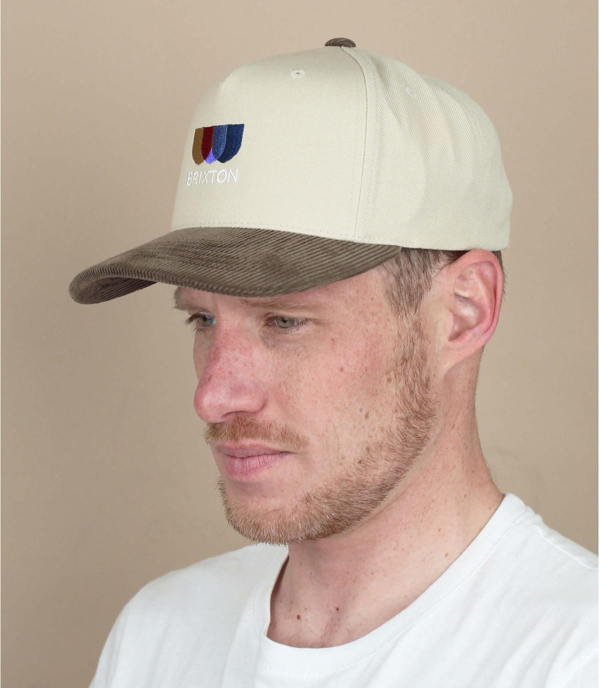 beige Brixton cap