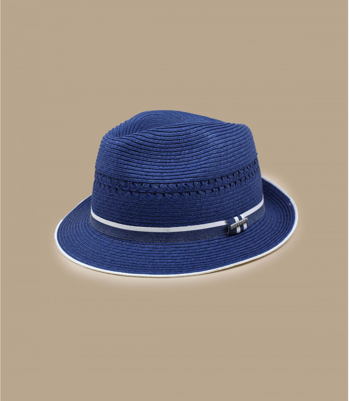 Stetson blauw stro trilby