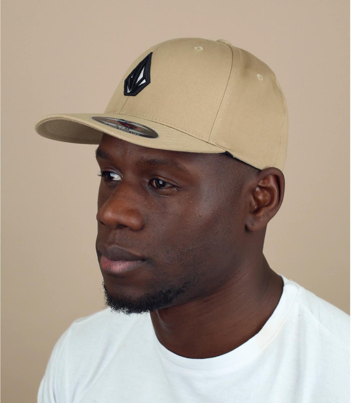 beige Volcom Stone cap