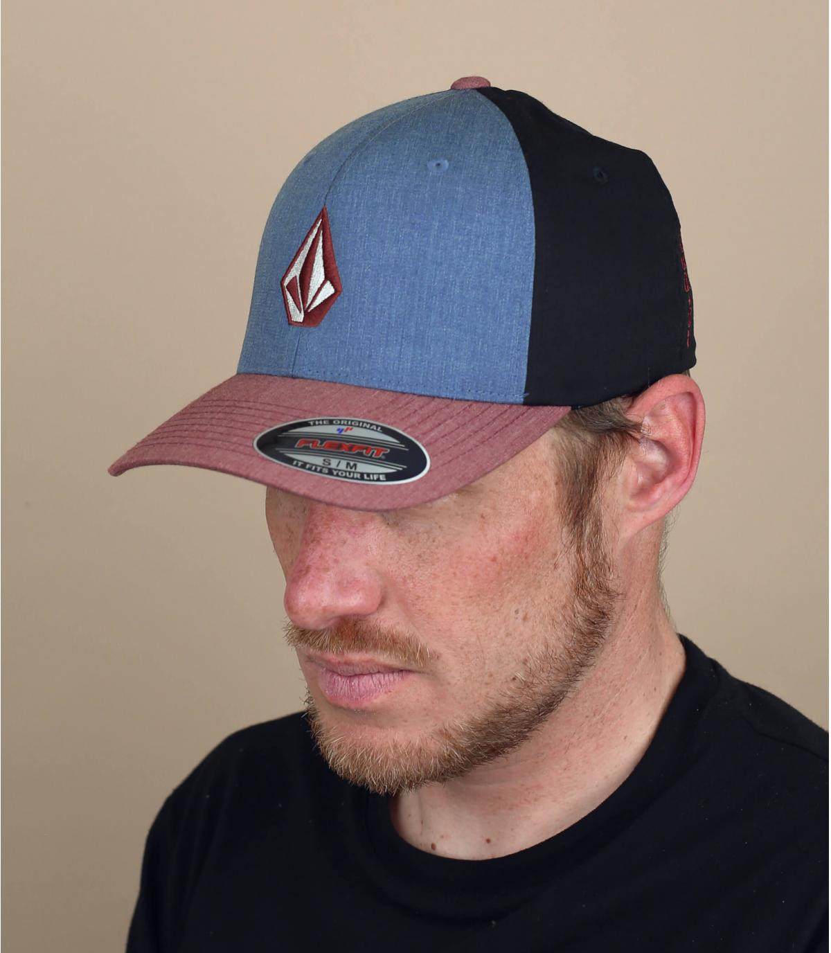 rood blauwe Volcom cap