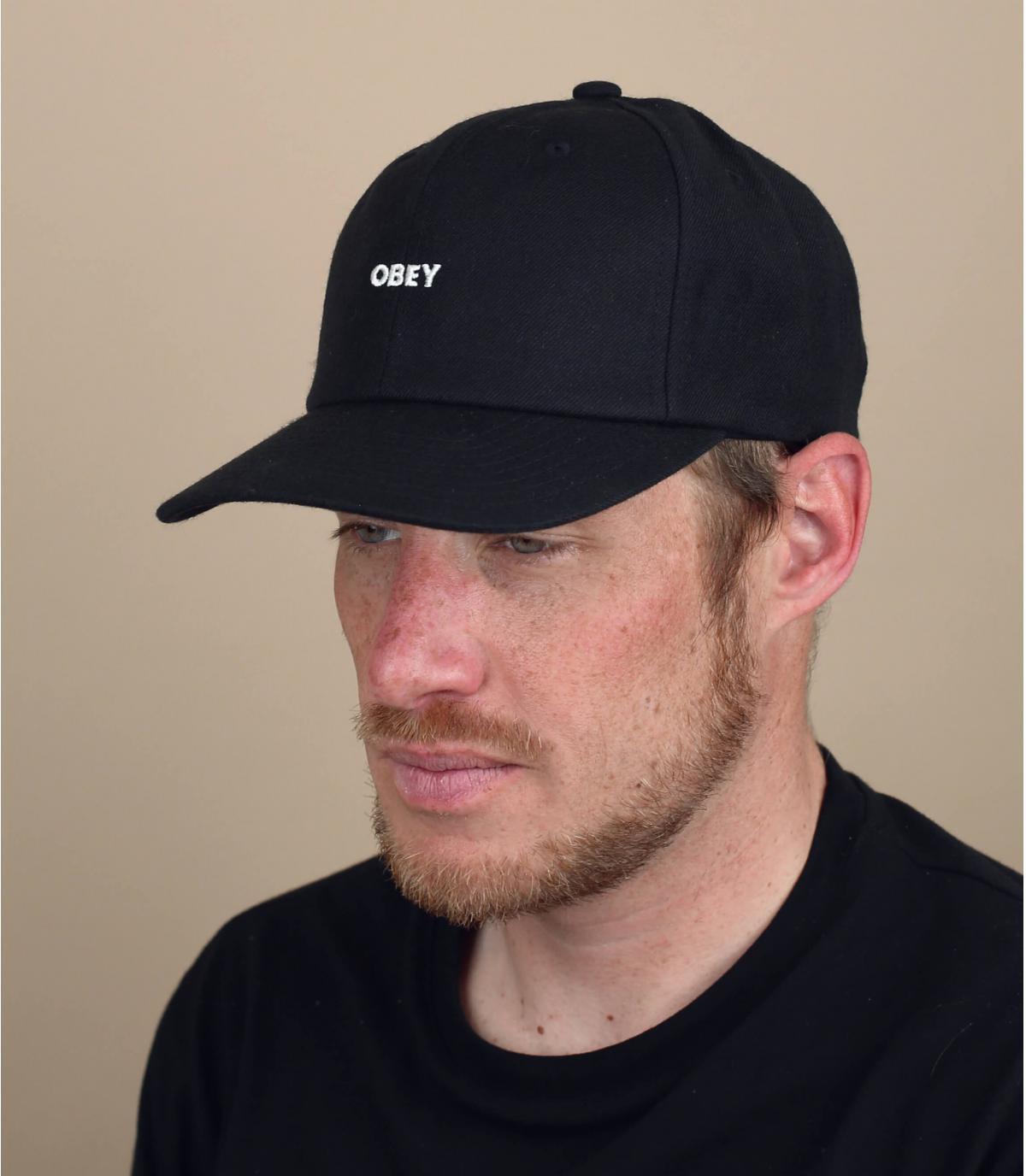 zwarte Obey cap