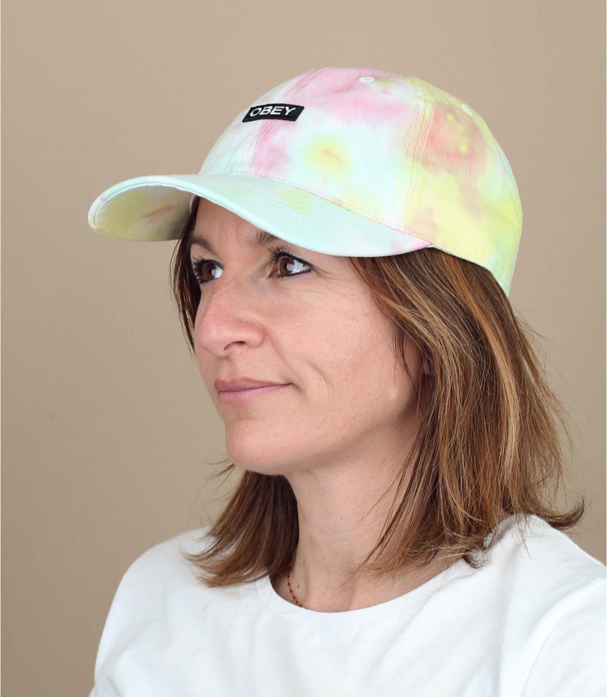 Obey tie-dye cap