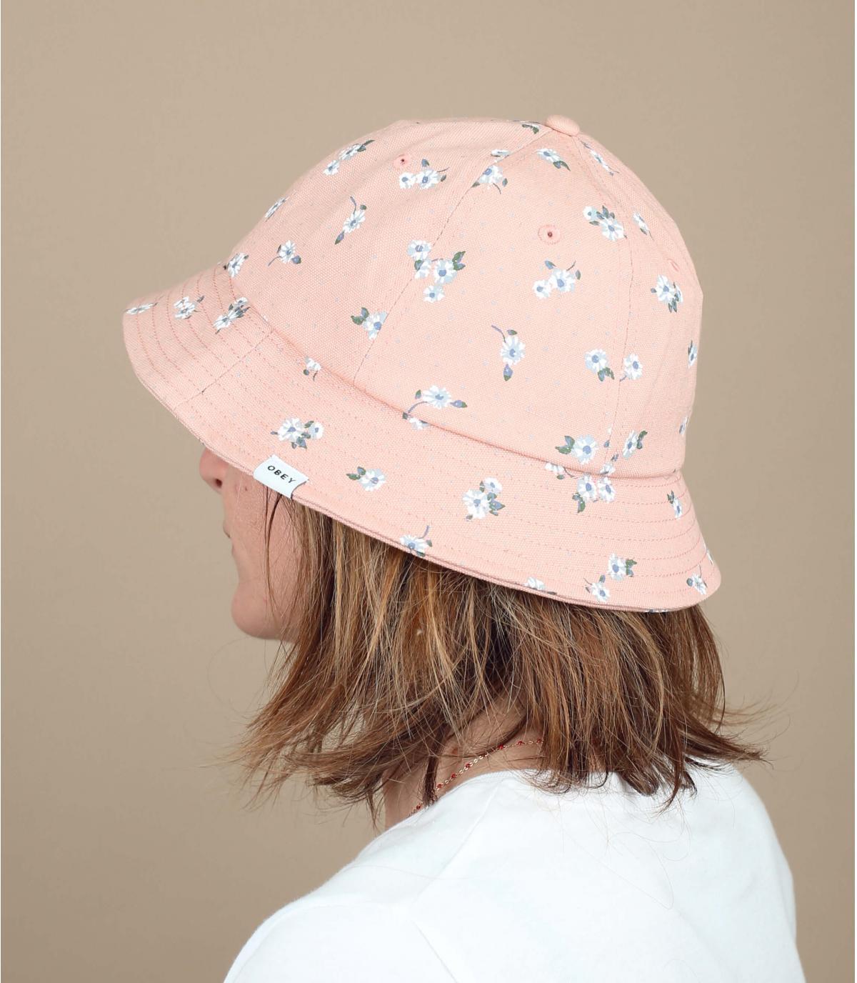 roze gebloemde Obey cap