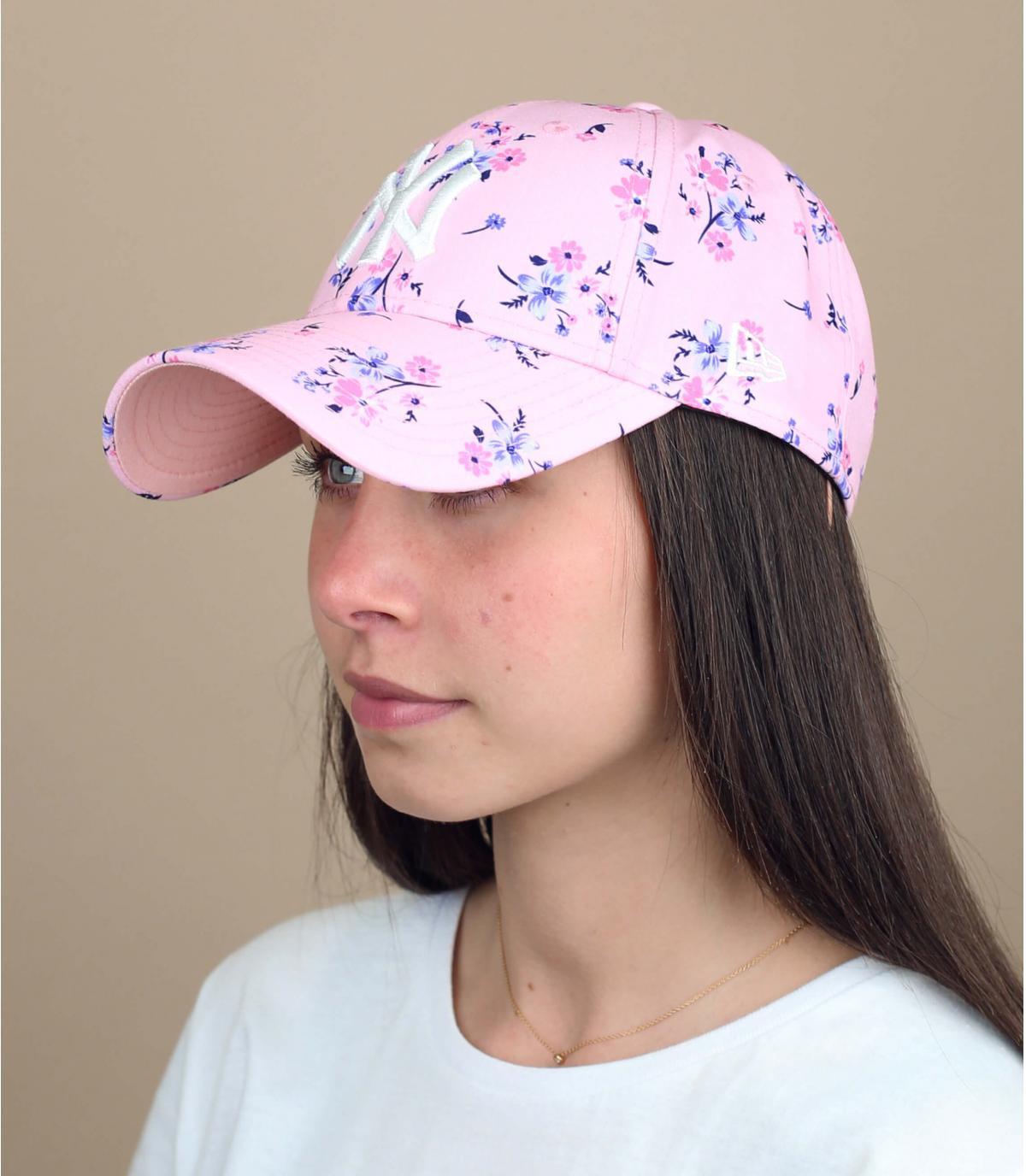roze bloem damescap