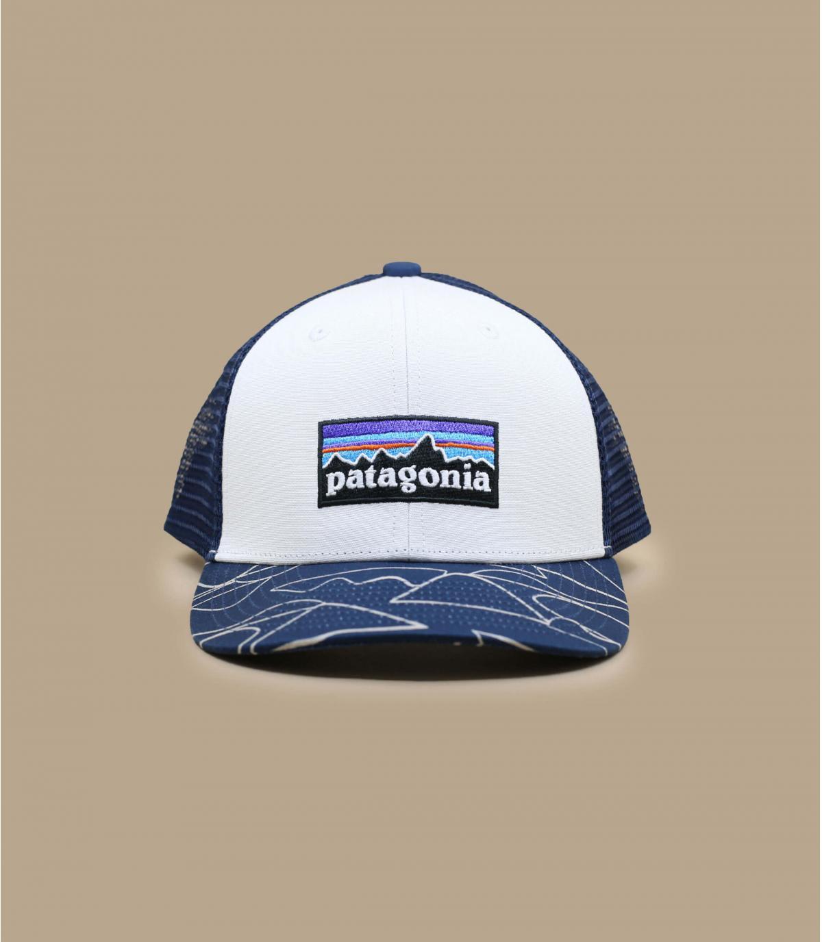 blauwe witte Patagonia kinder trucker