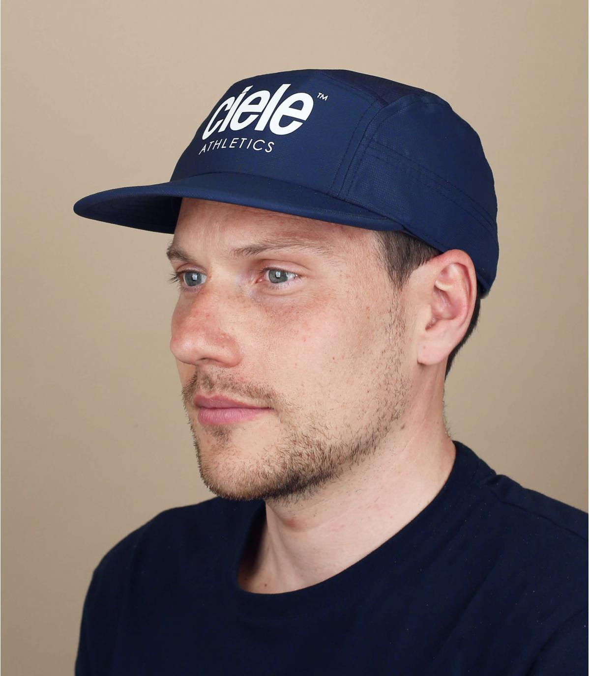ciele blauwe running cap