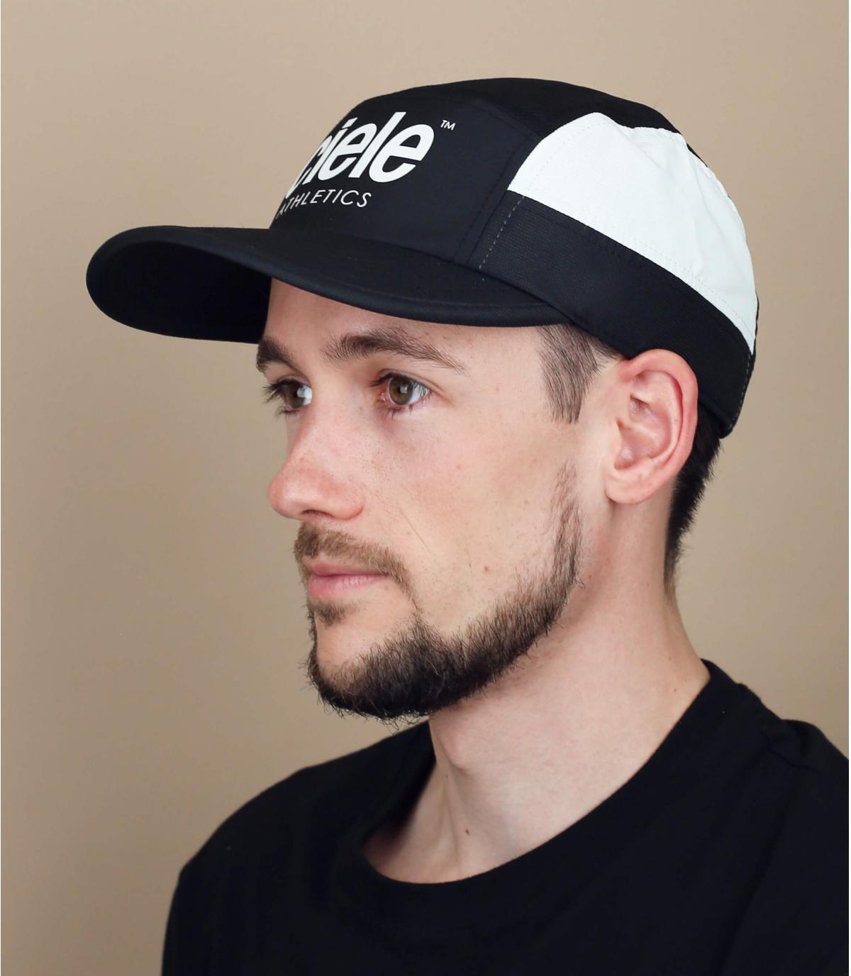 zwarte curve running cap