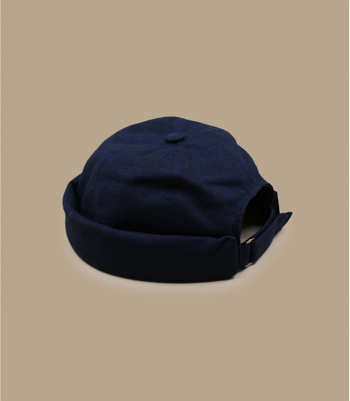 marineblauwe linnen docker