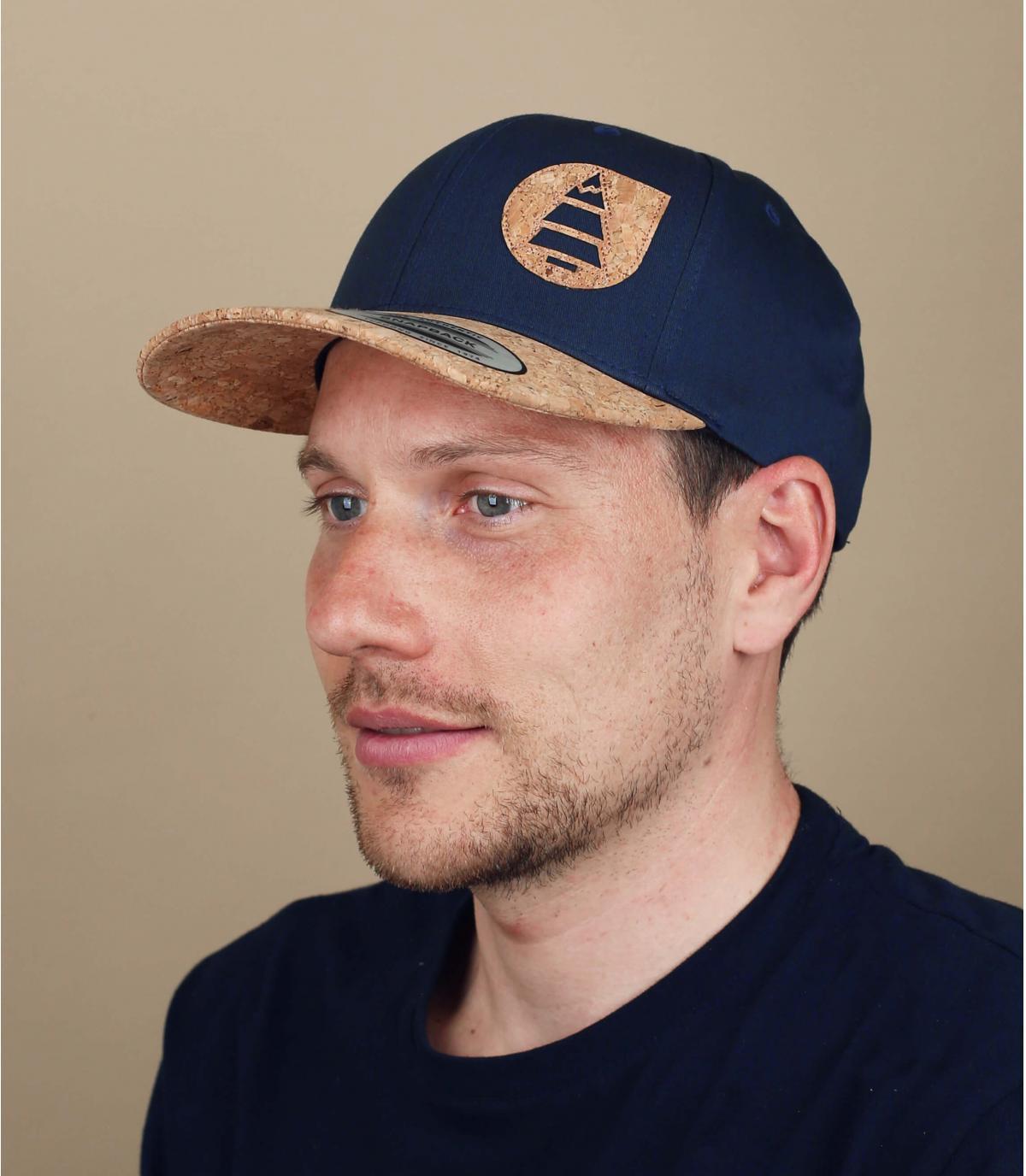 Picture cap donkerblauw