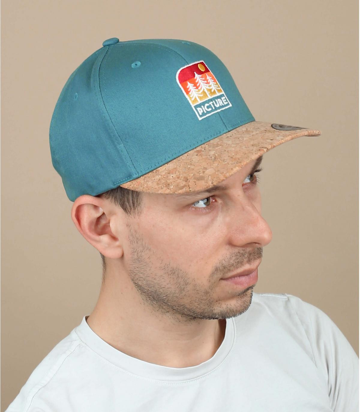 Picture cap blauw patch