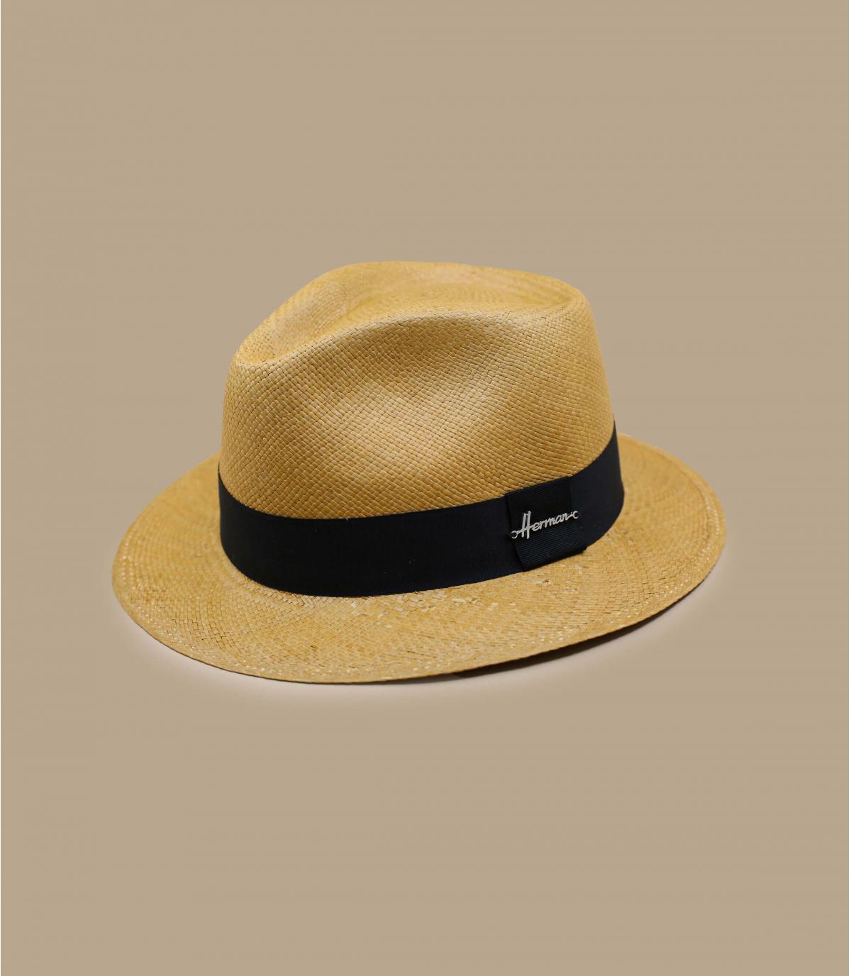 Herman beige Panama hoed