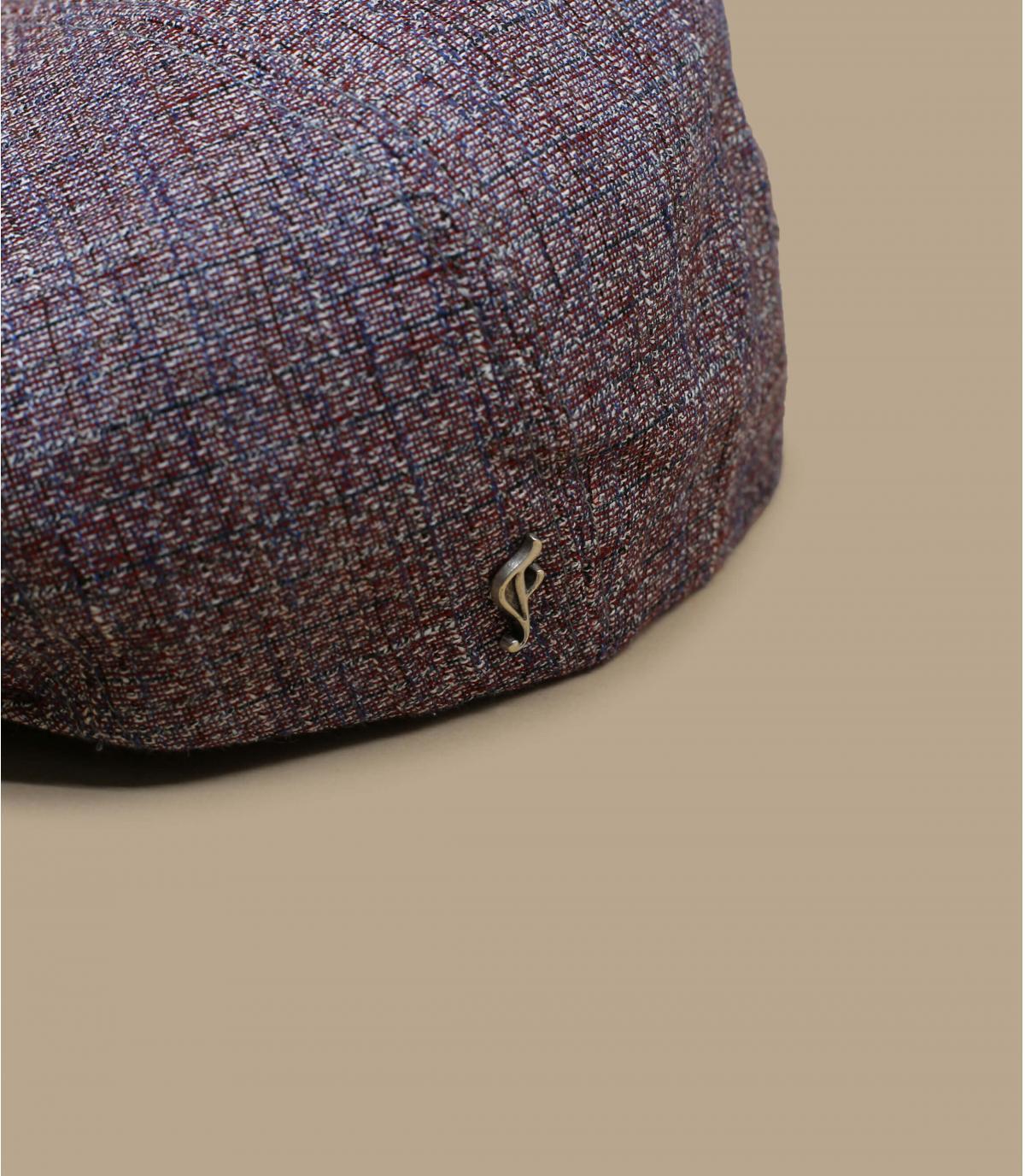rode linnen zijden baret
