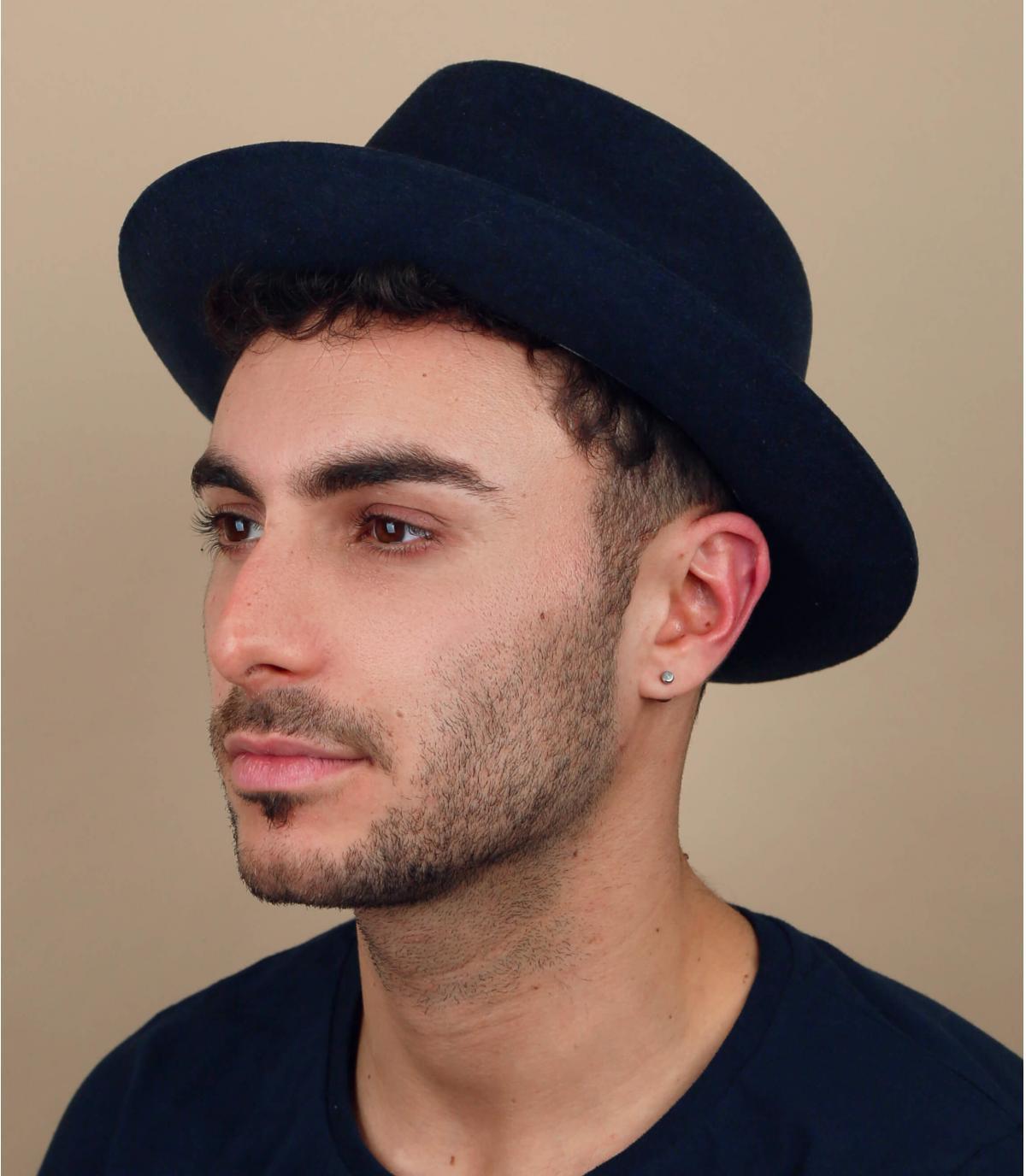 beige biologische linnen baret