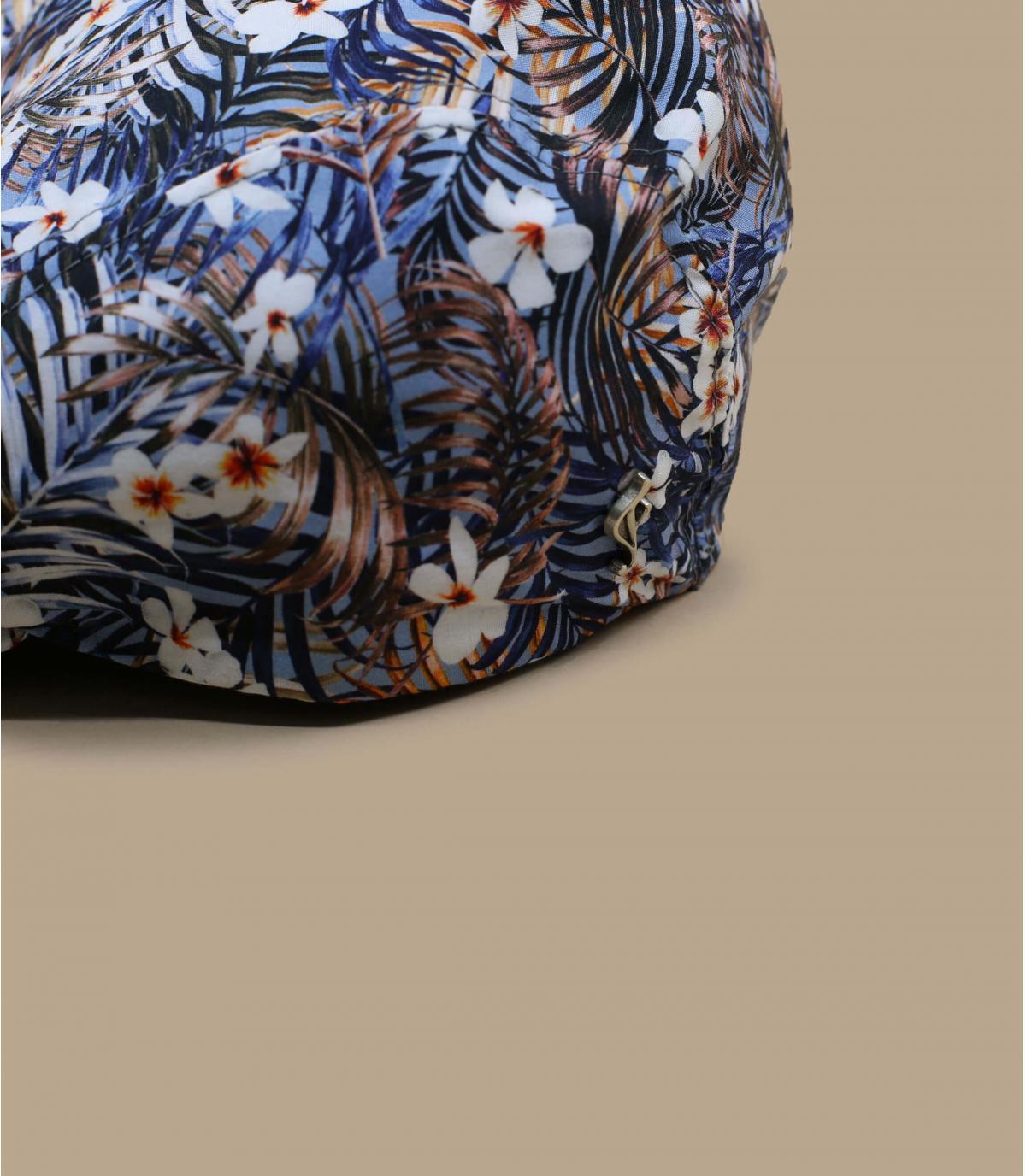 blauwe bloemen baret