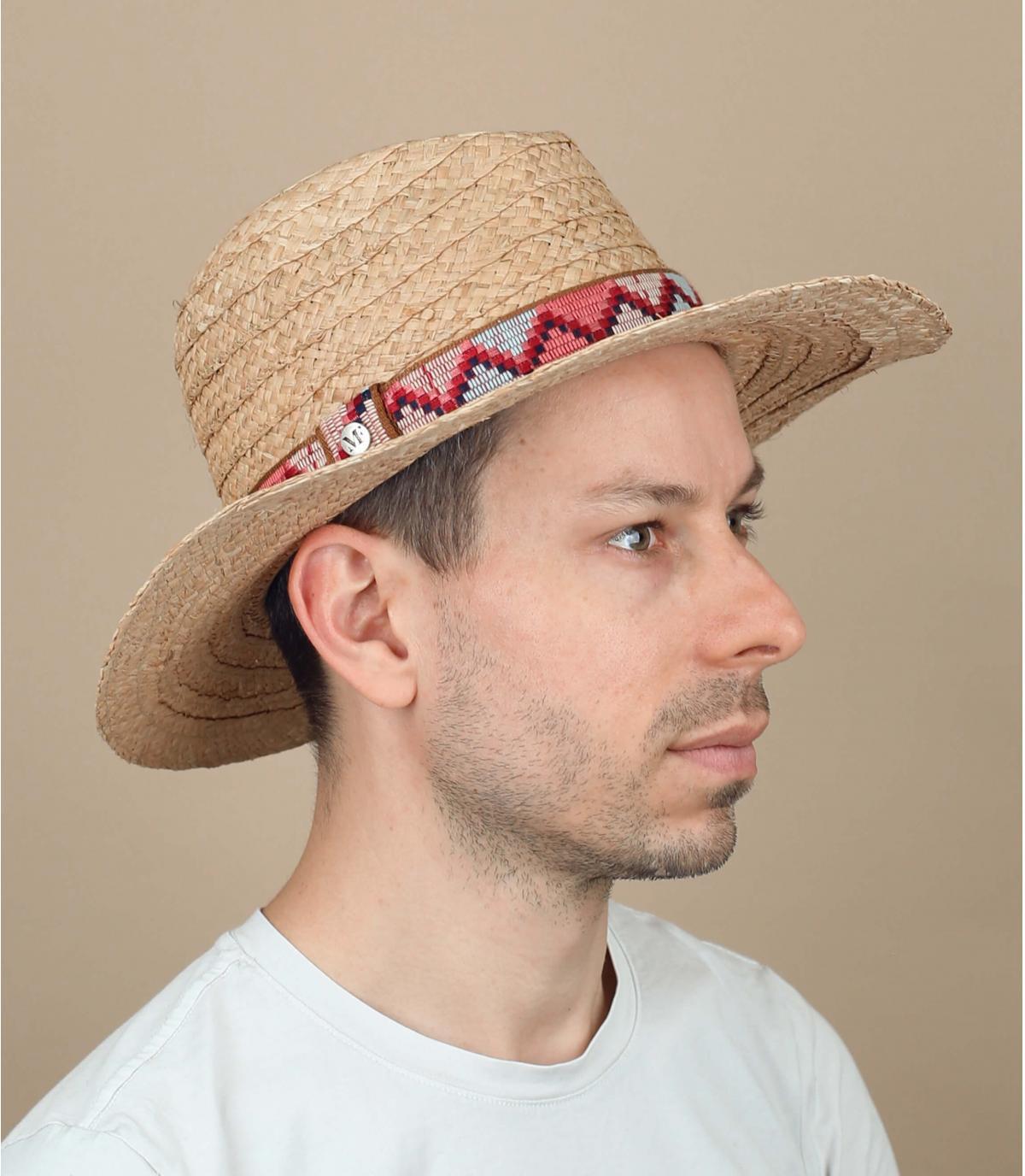 gevlochten strooien hoed patroon