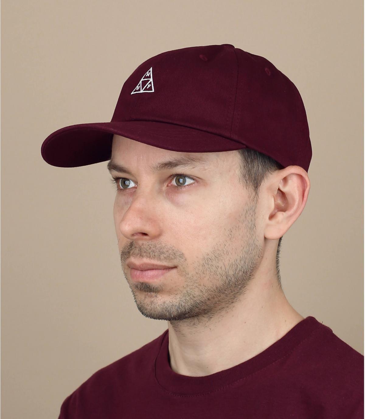 bordeauxrode Huf cap