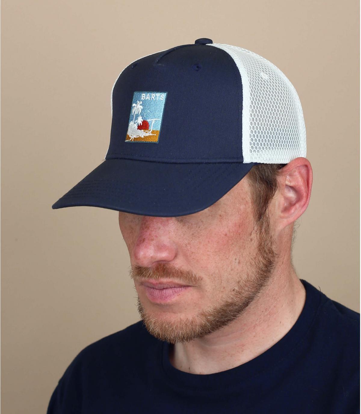Barts trucker blauwe patch