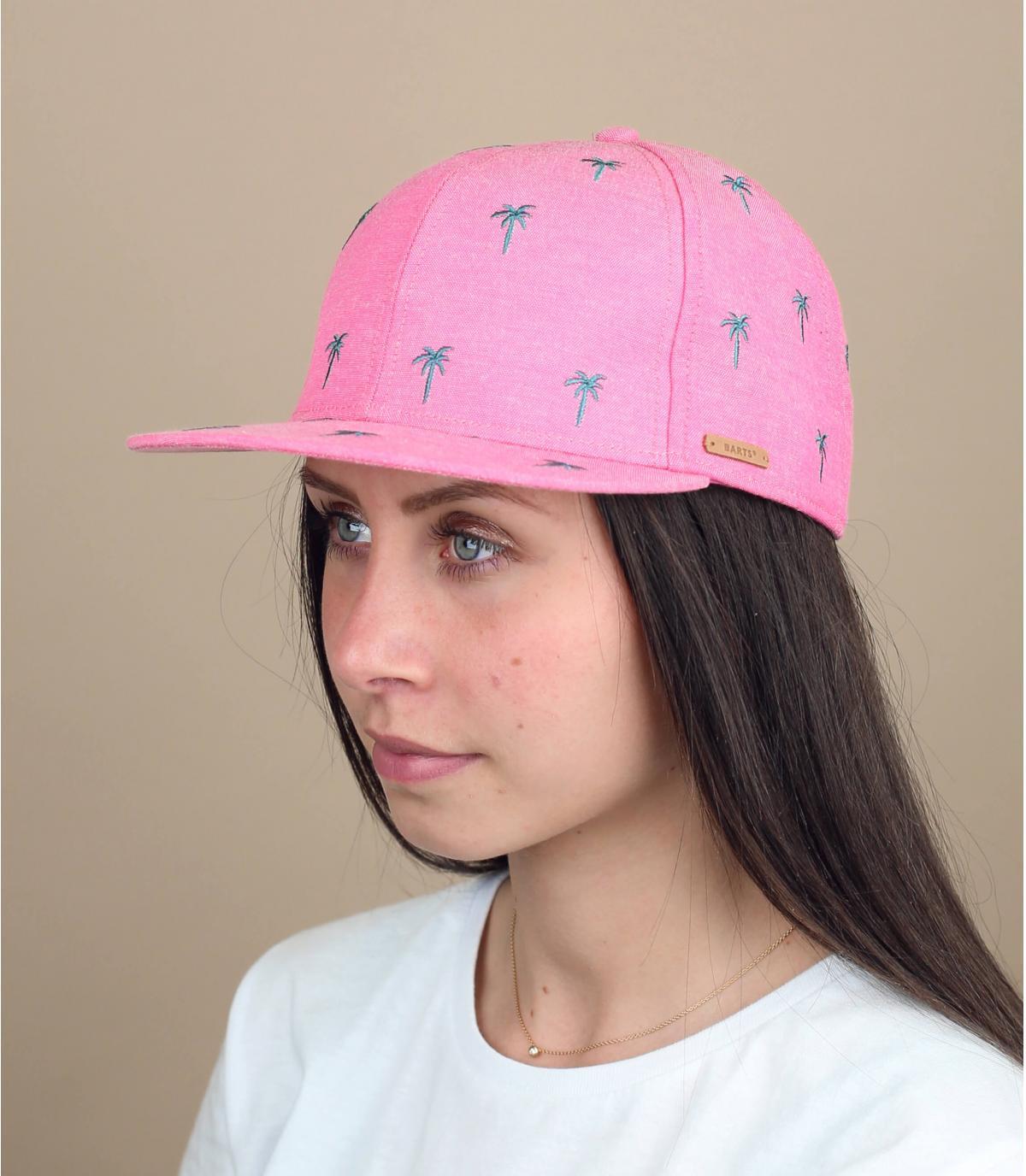 roze kindermuts palmen