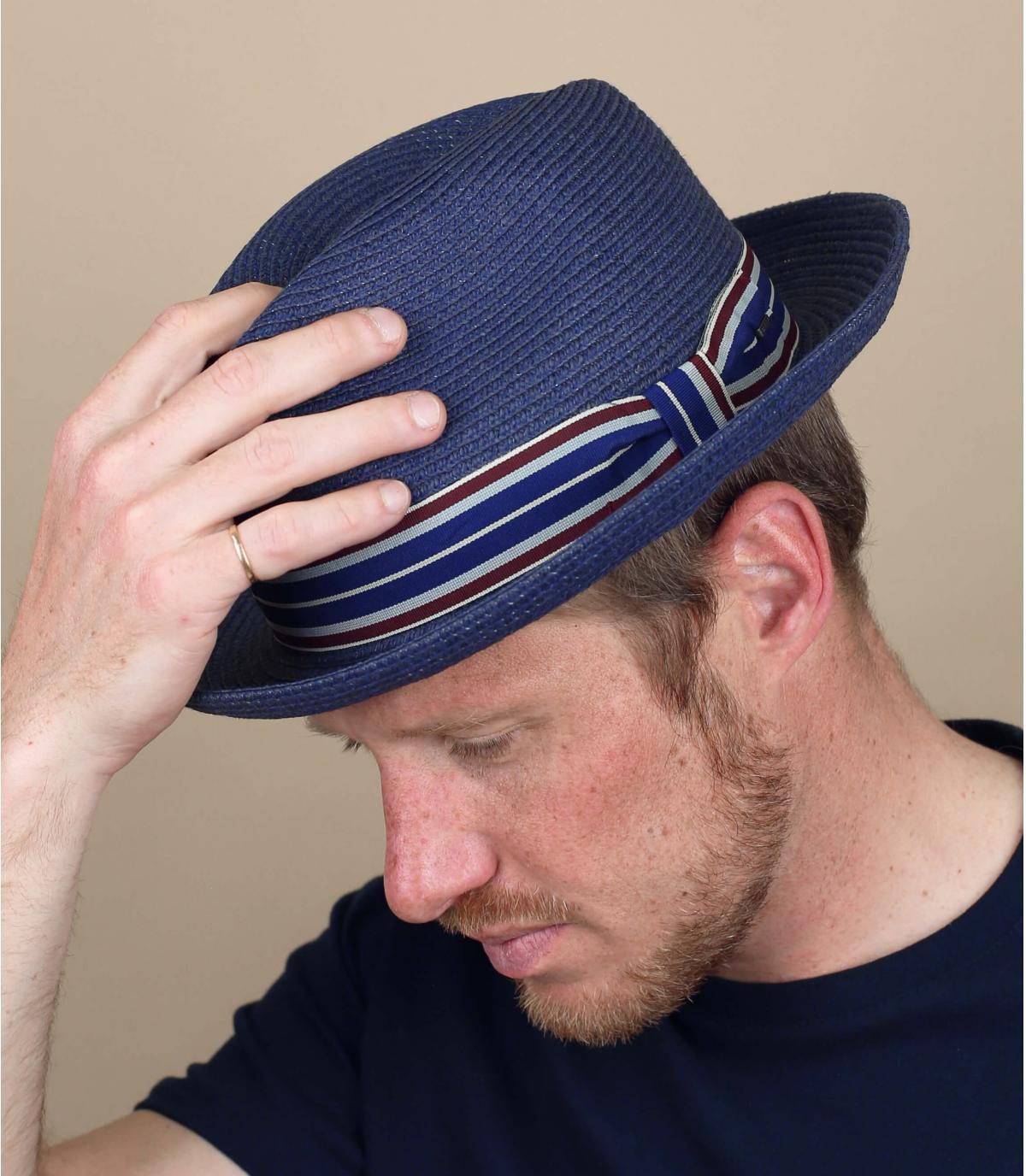 bailey marineblauwe strooien hoed