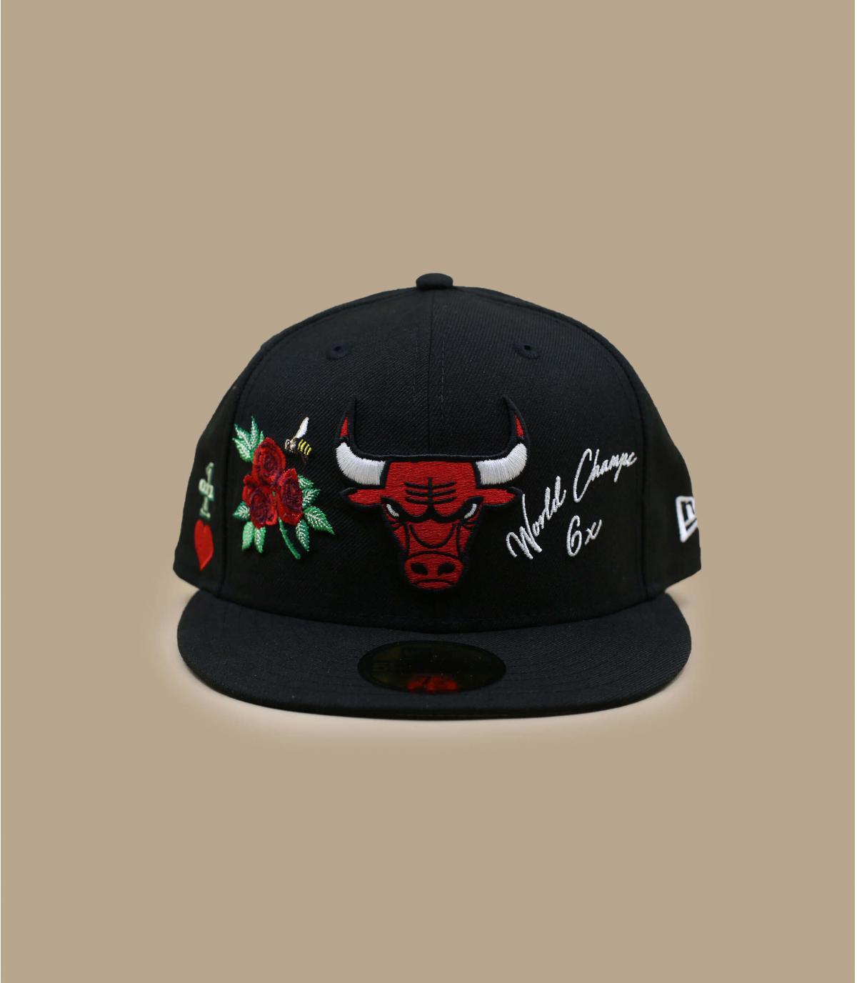 Bulls cap patches