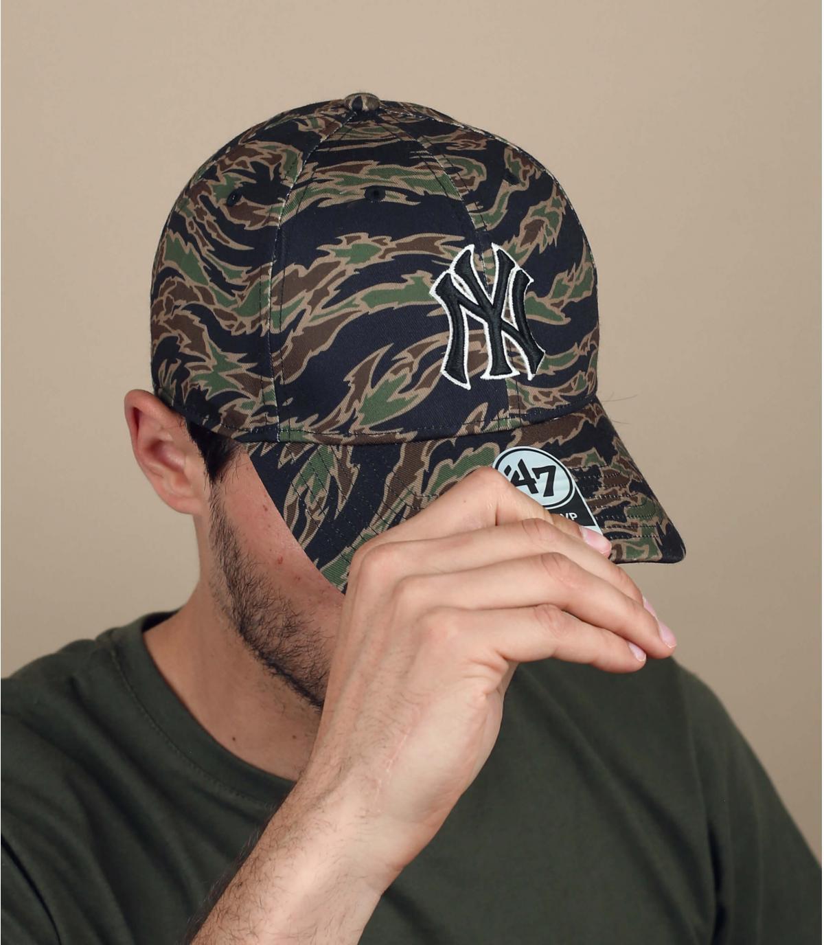NY camouflage cap
