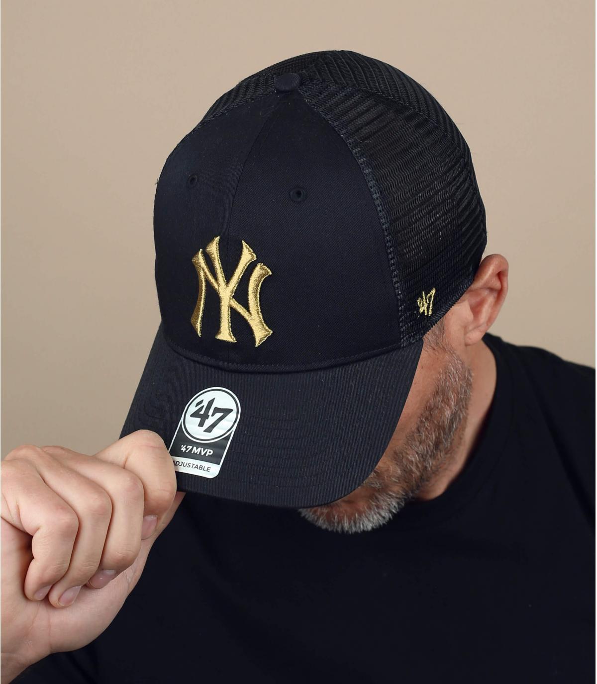 trucker NY zwart goud logo