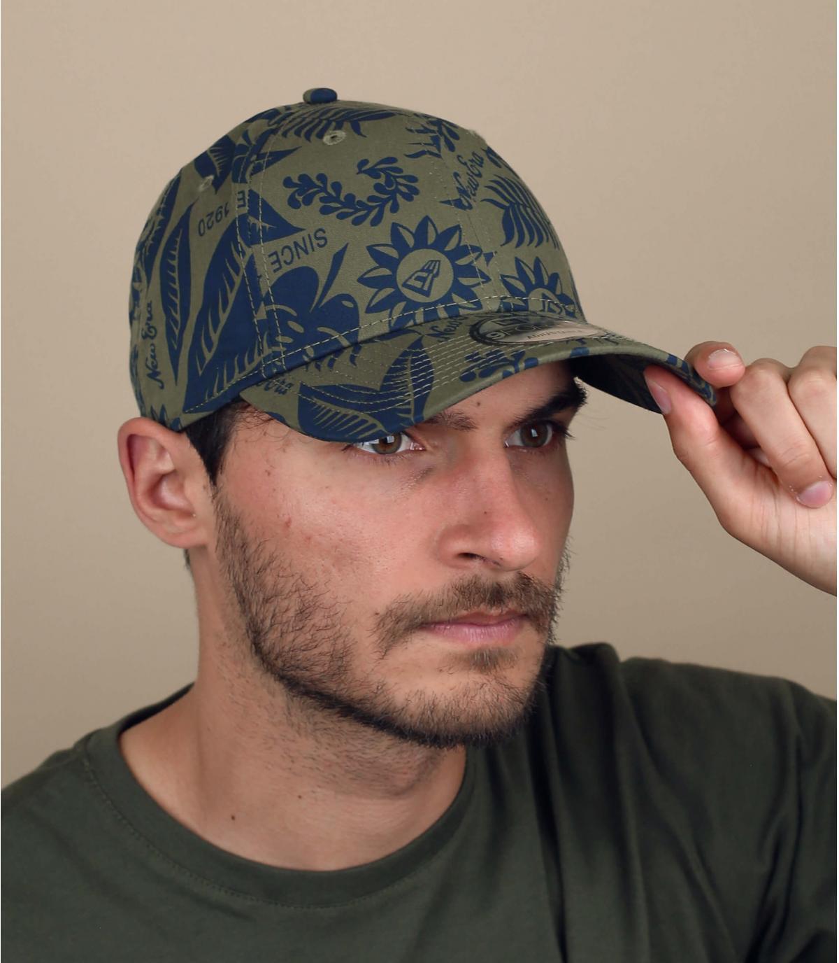 groene print cap