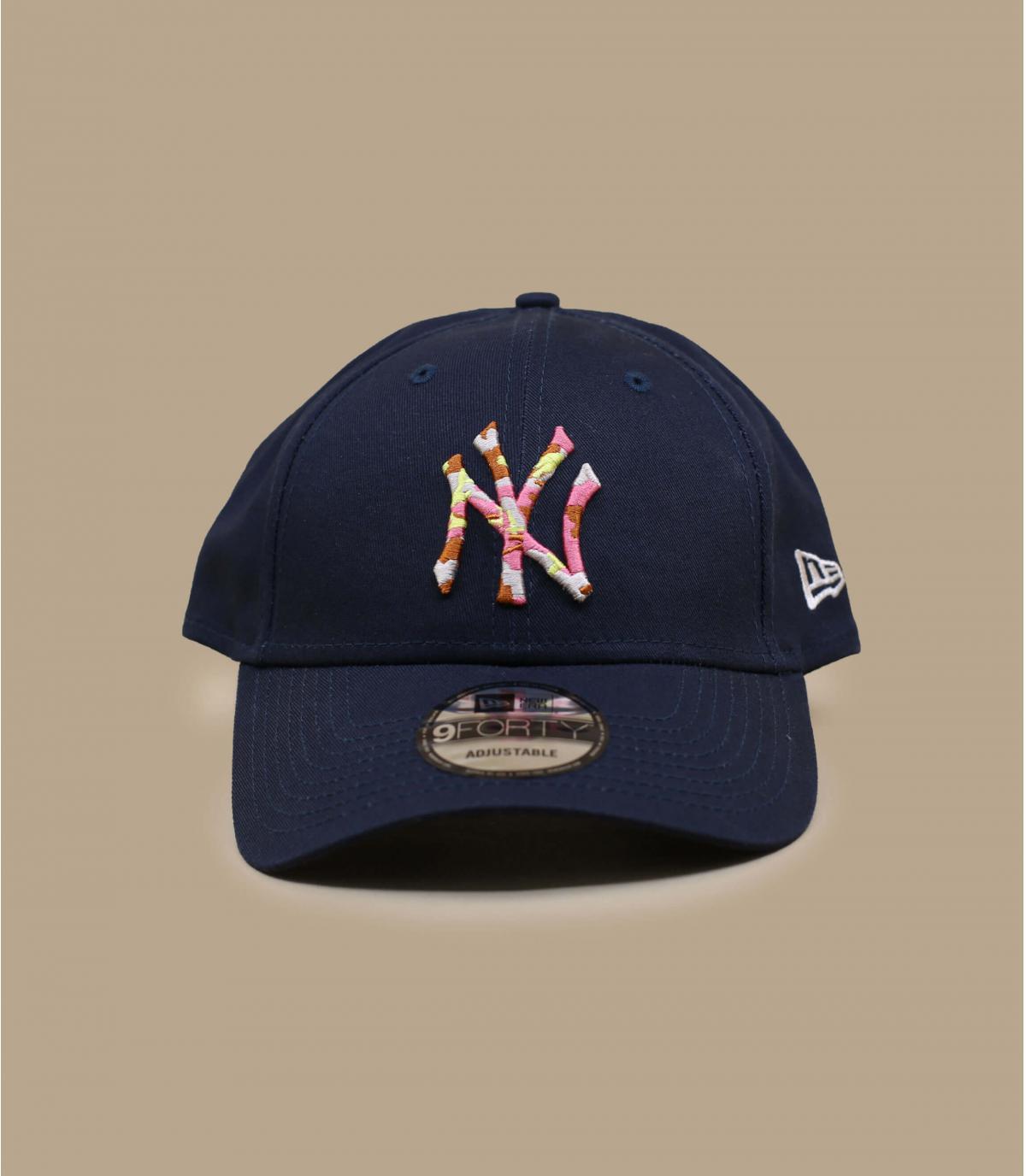 marineblauwe NY cap