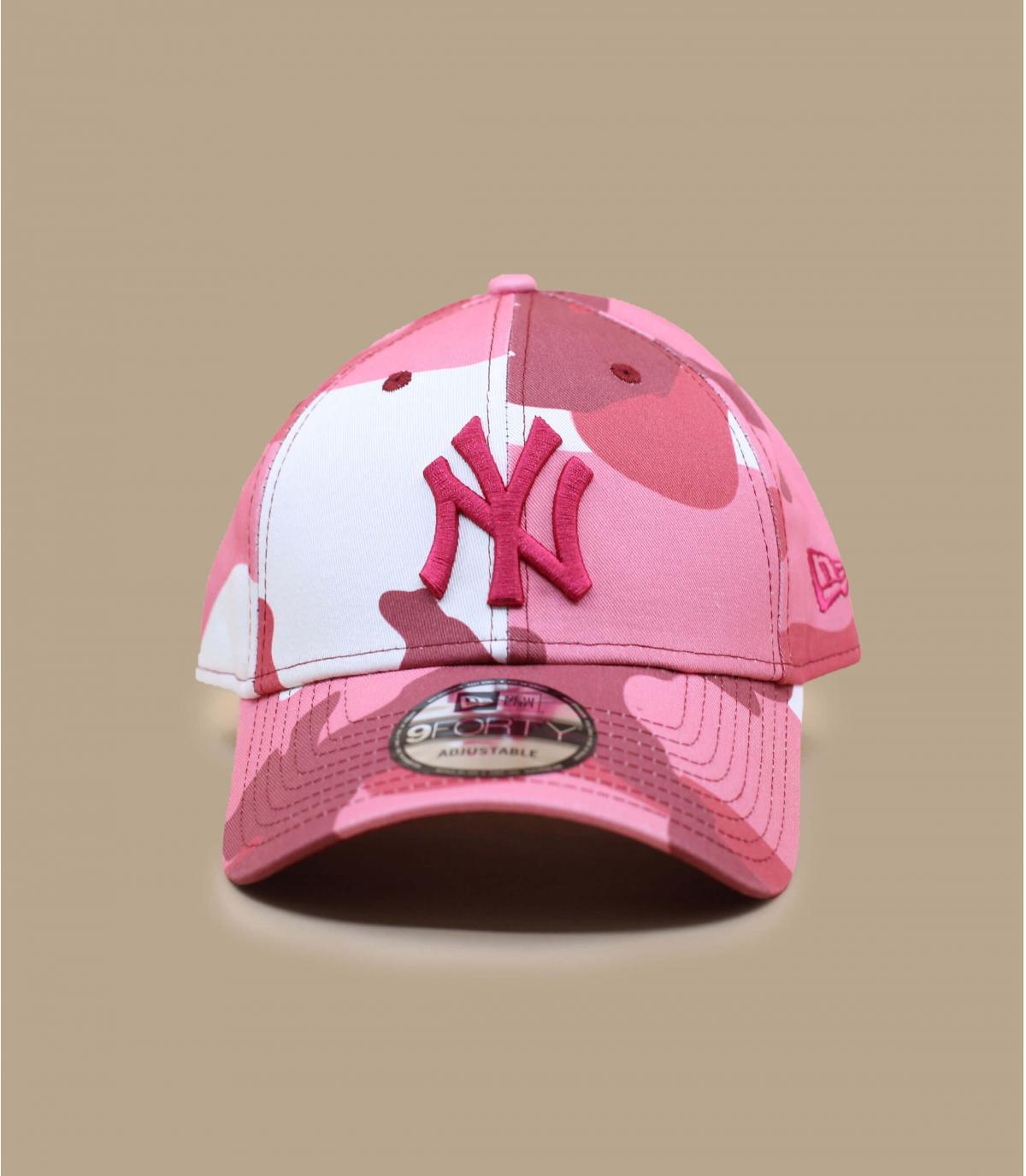 roze camo NY cap