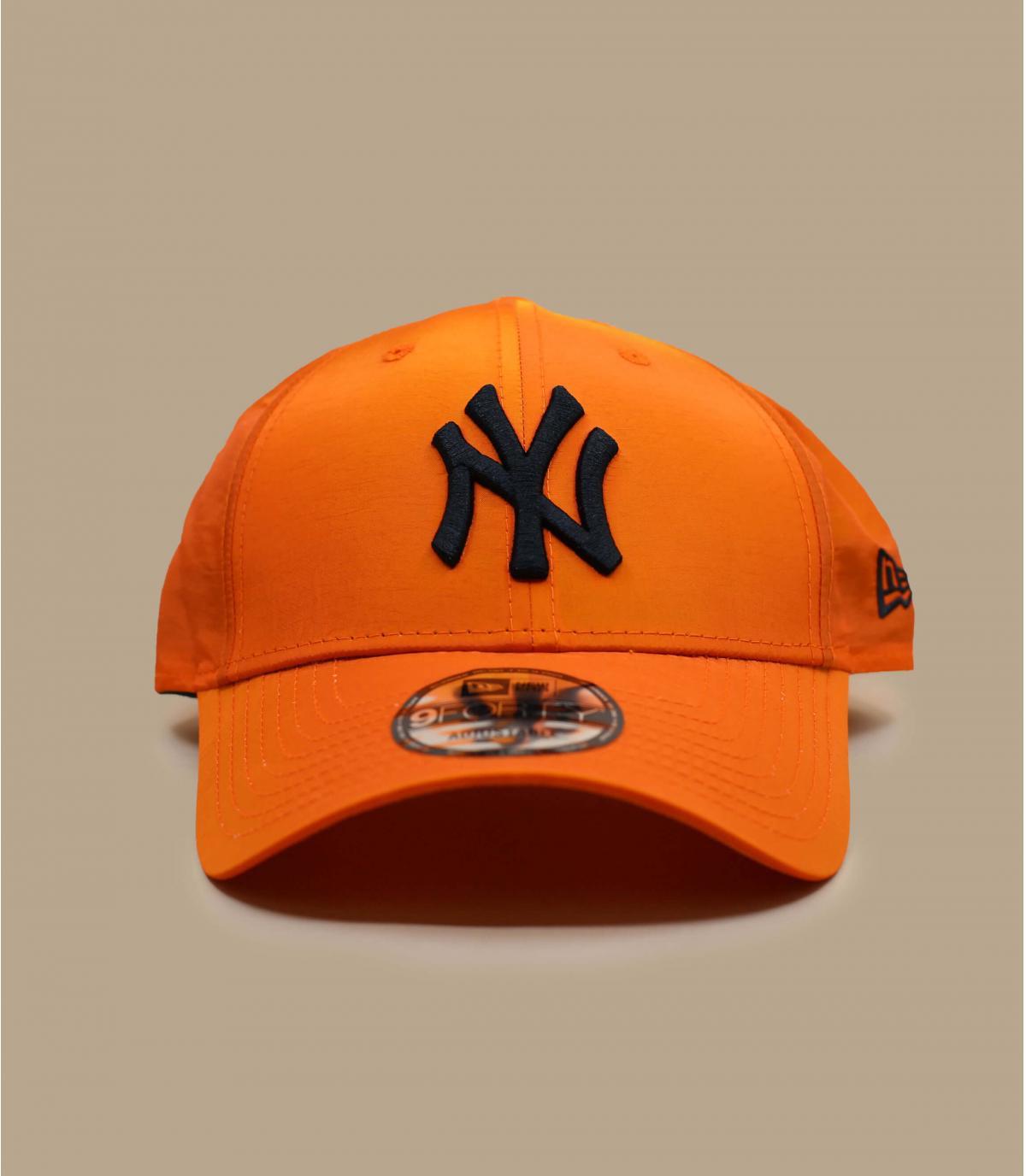 iriserende oranje NY cap