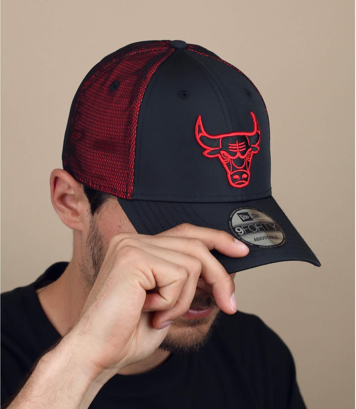 zwart rode Bulls cap