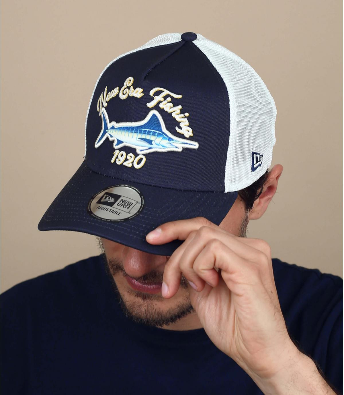 blauwe zwaardvis trucker