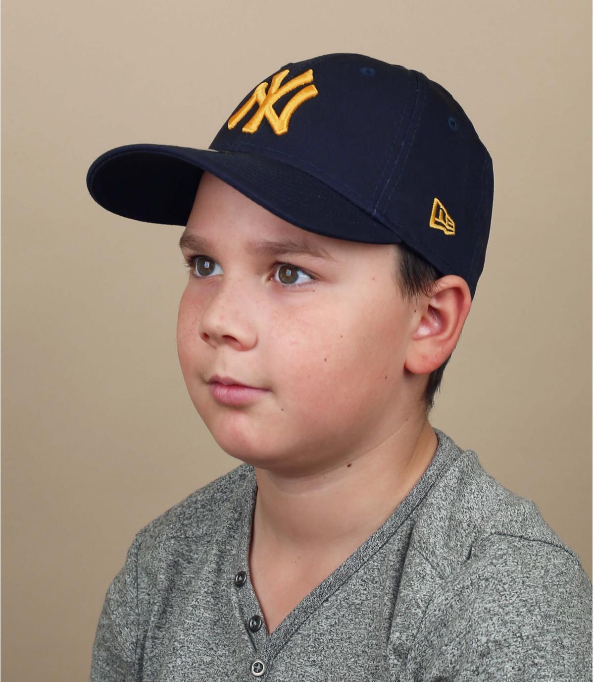 kinderpet NY marineblauw
