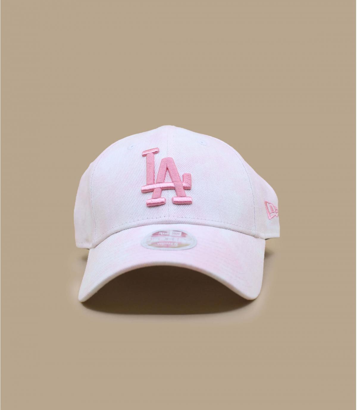 wit roze LA cap