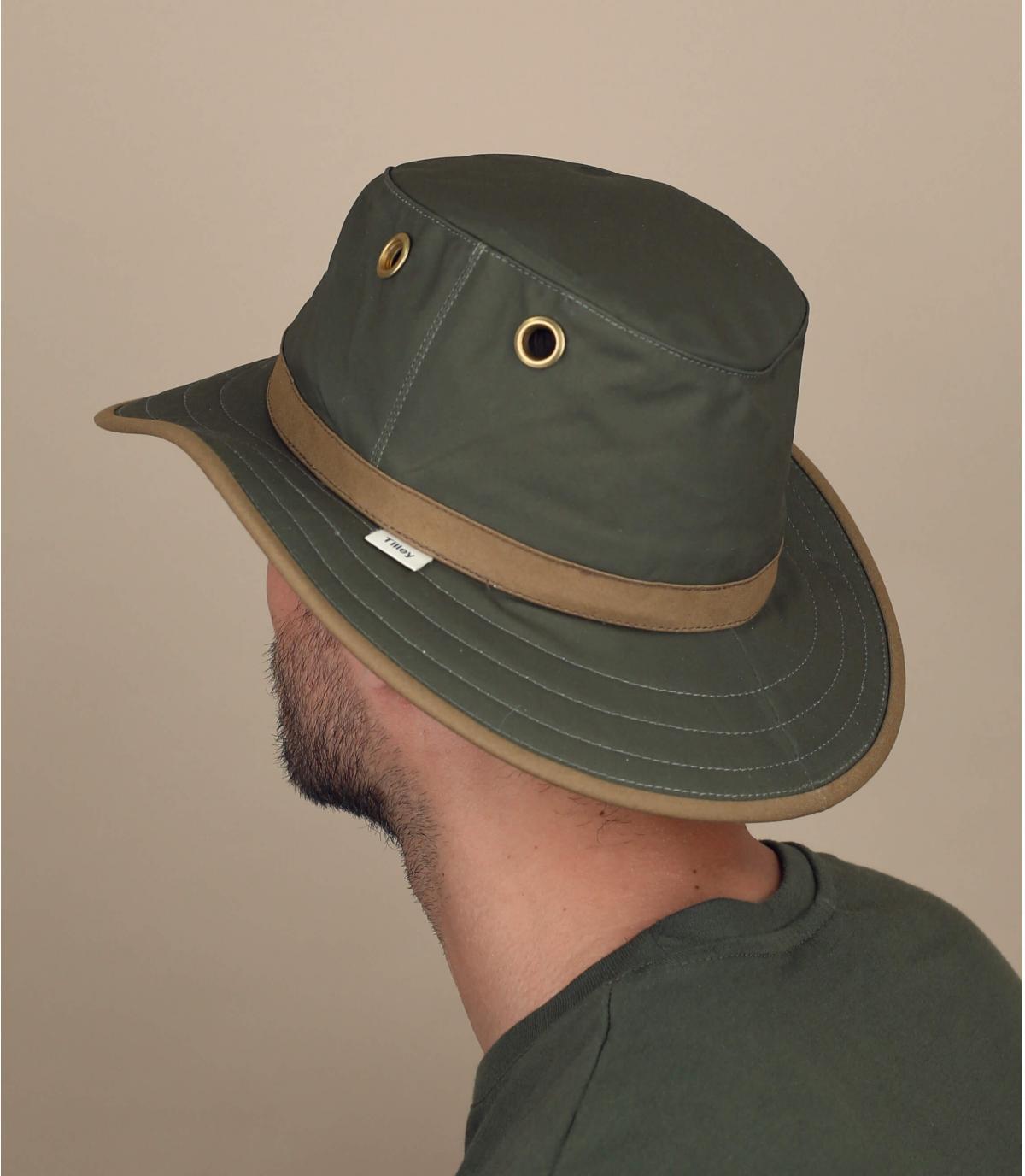 hoed groen gewaxt katoen