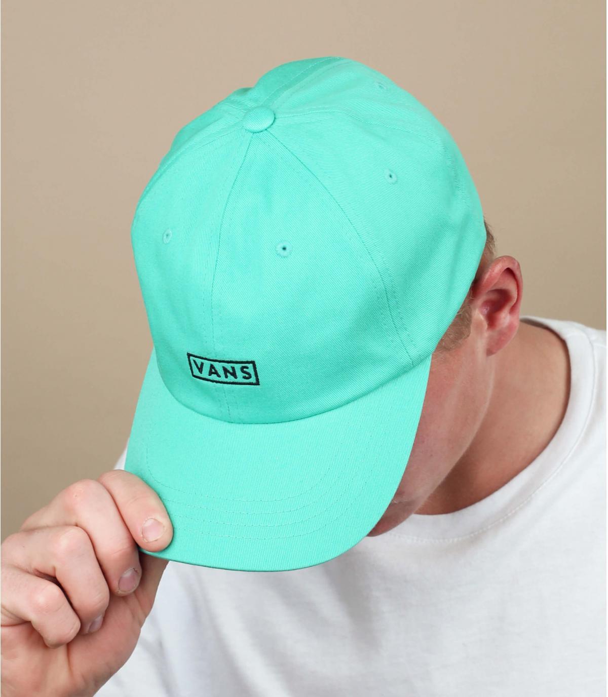 Turkoois blauwe Vans cap